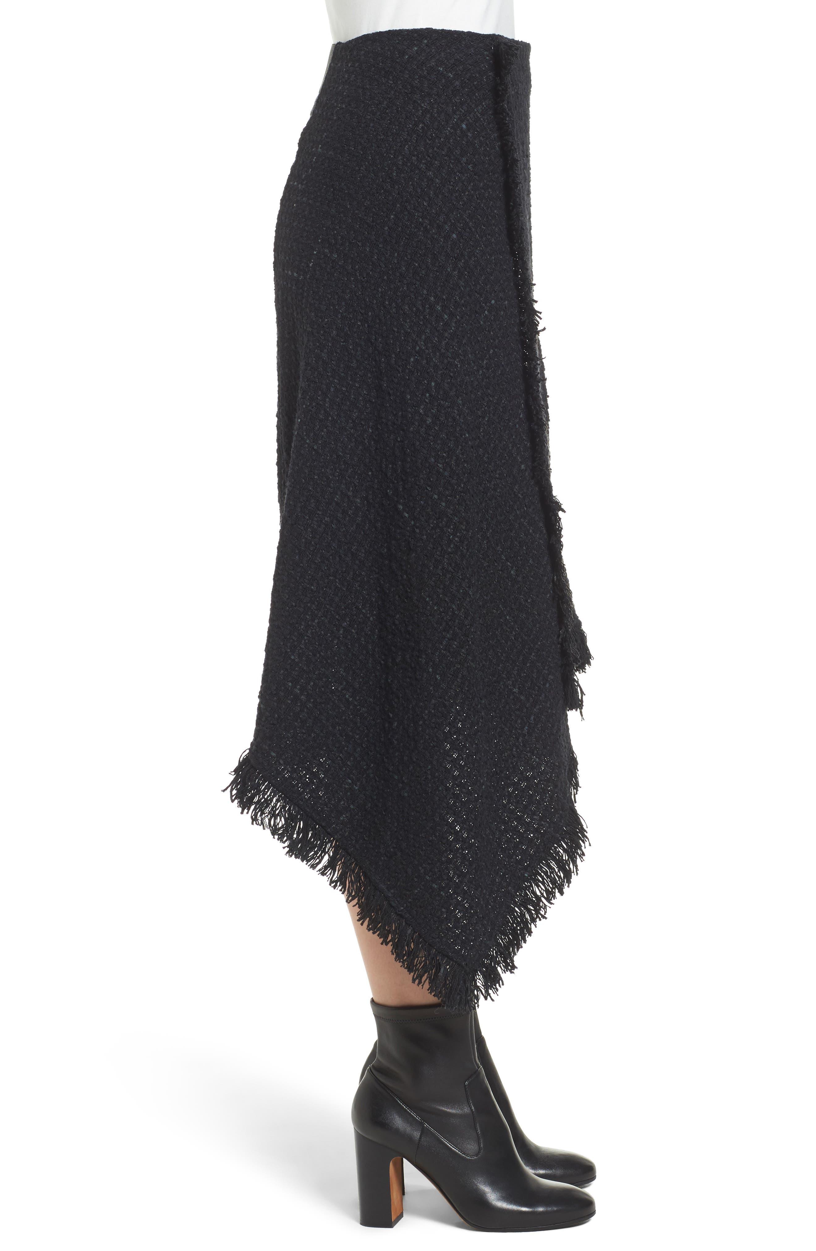 NIC + ZOE Majestic Tweed Skirt,                             Alternate thumbnail 3, color,                             004