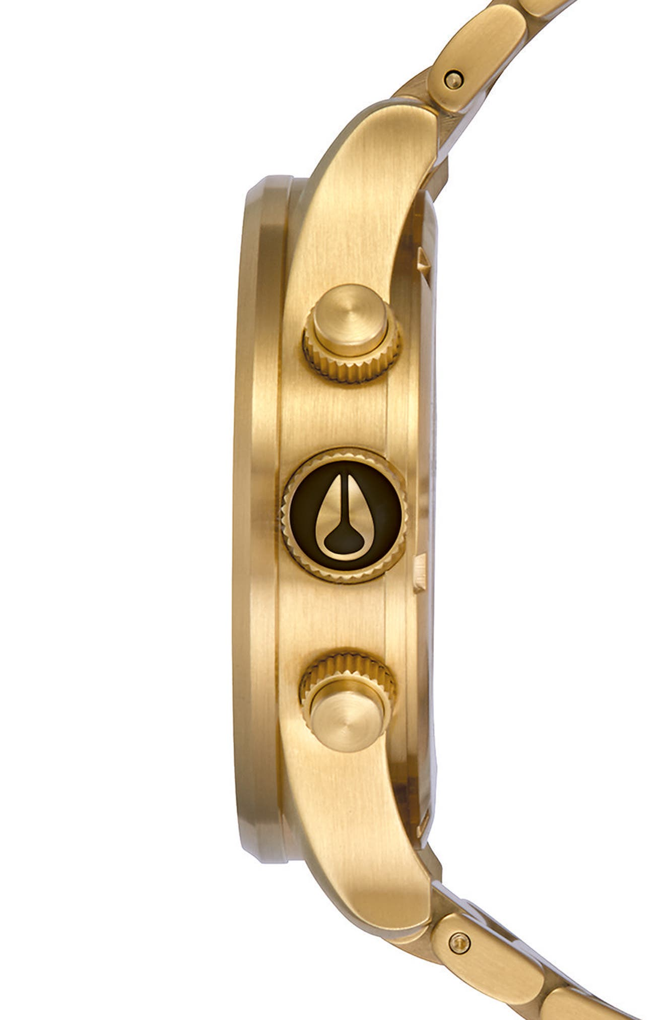 'The Sentry' Chronograph Bracelet Watch, 42mm,                             Alternate thumbnail 3, color,                             GOLD/ BLACK/ GOLD