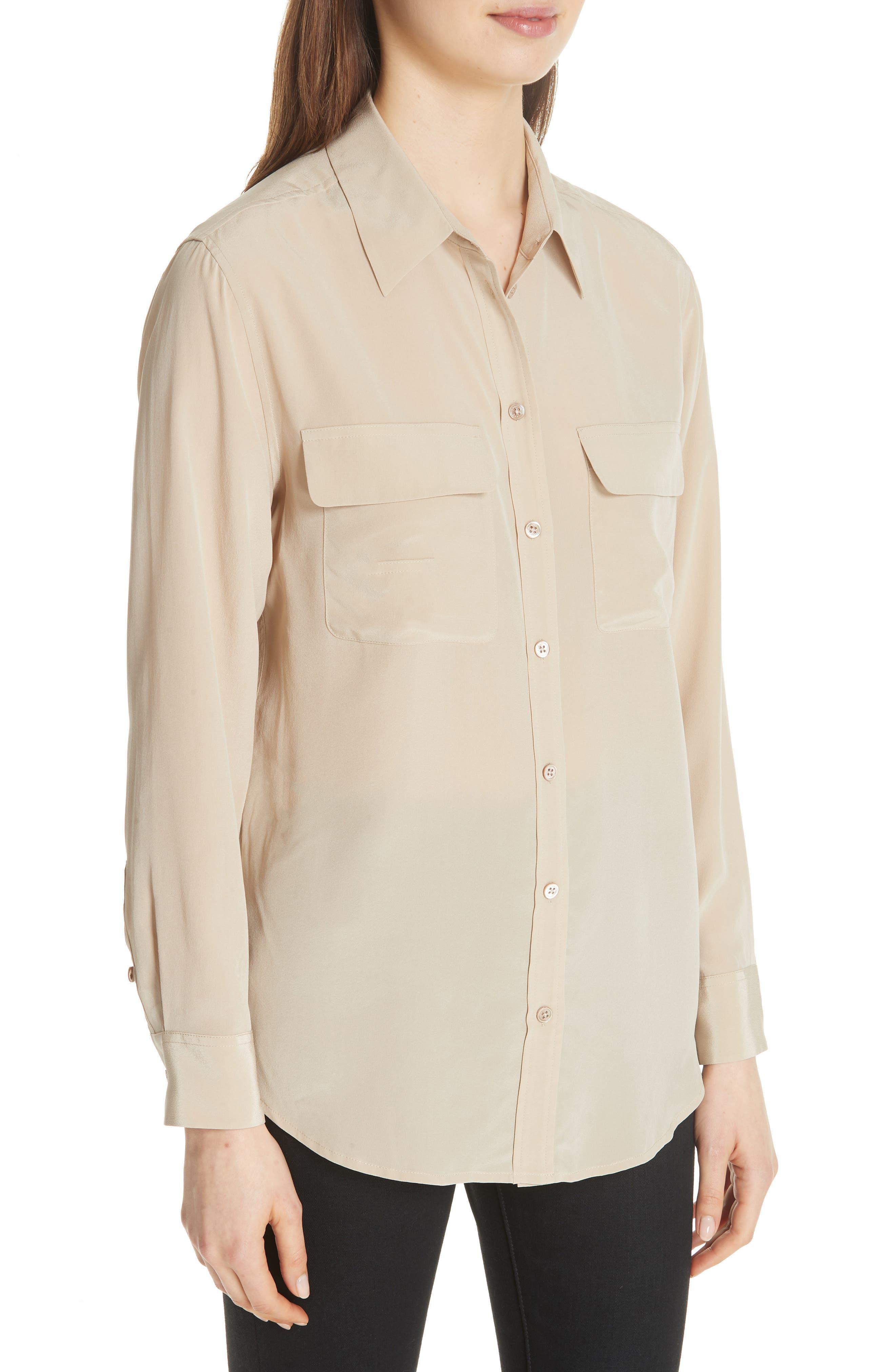 'Signature' Silk Shirt,                             Alternate thumbnail 5, color,                             261