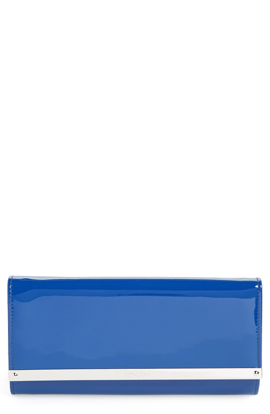 'Milla' Patent Leather Wallet on a Chain,                             Main thumbnail 5, color,