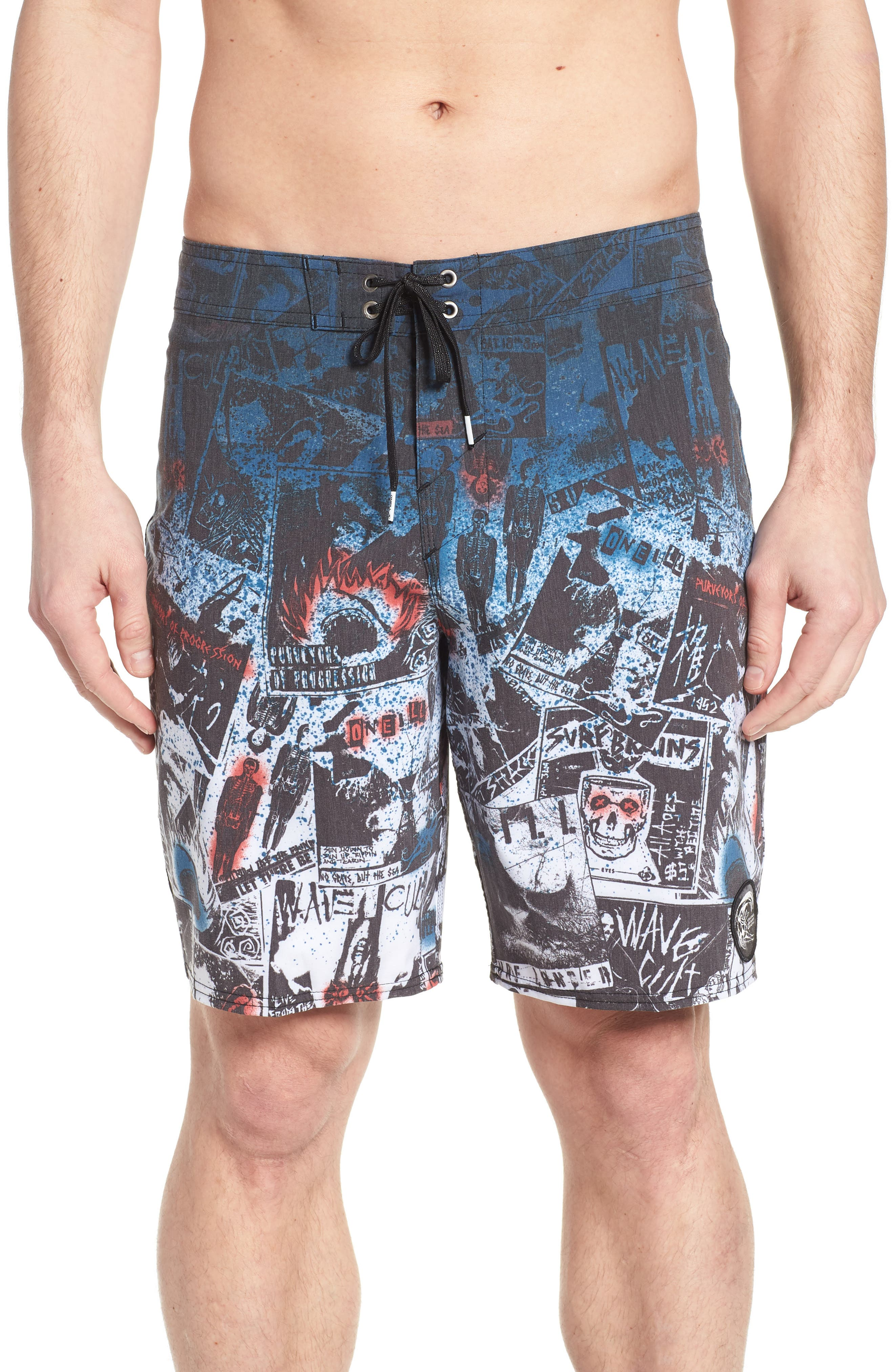 Hyperfreak Americore Board Shorts,                         Main,                         color, 001