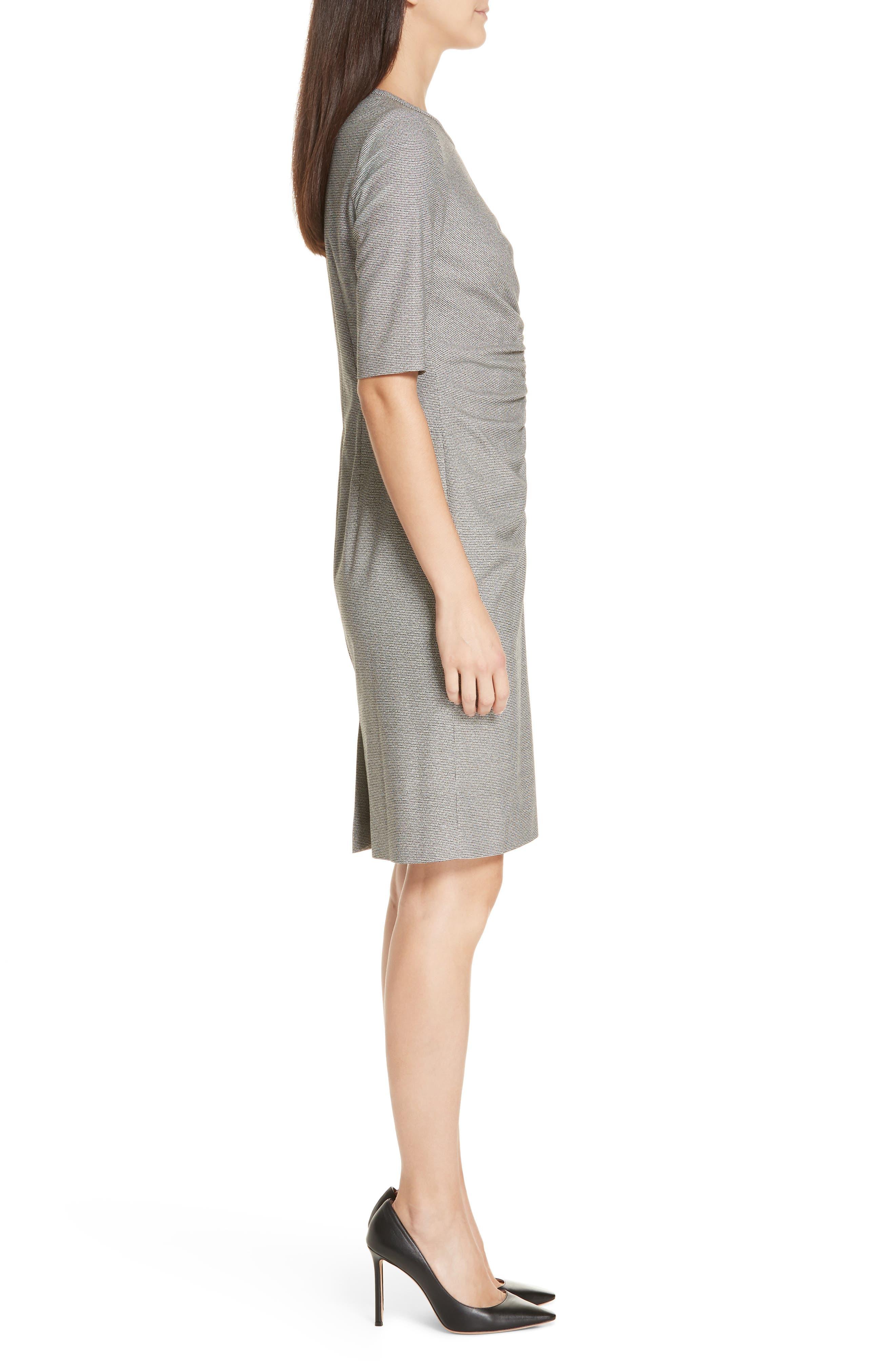 Dirafia Blurred Optic Dress,                             Alternate thumbnail 3, color,                             BLACK FANTASY