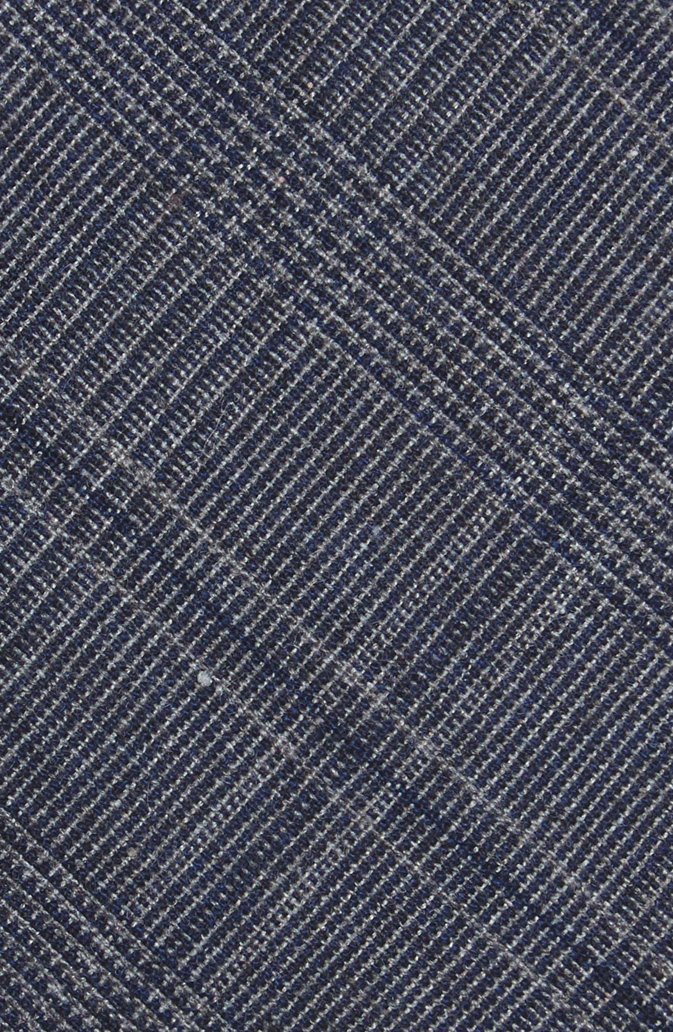 Cobble Plaid Cotton & Linen Tie,                             Alternate thumbnail 2, color,                             412