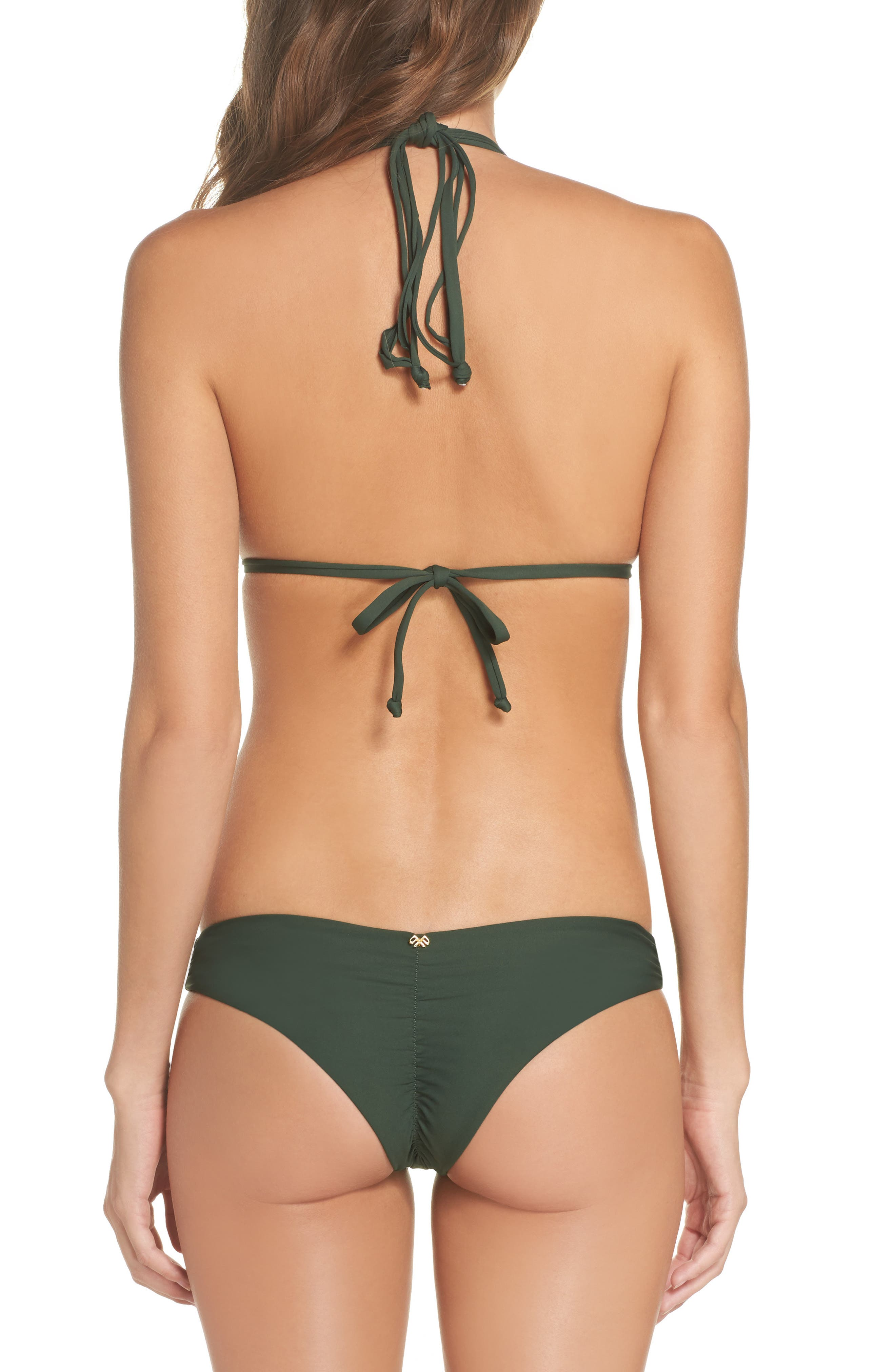 Isla Macramé Bikini Top,                             Alternate thumbnail 8, color,                             ARMY