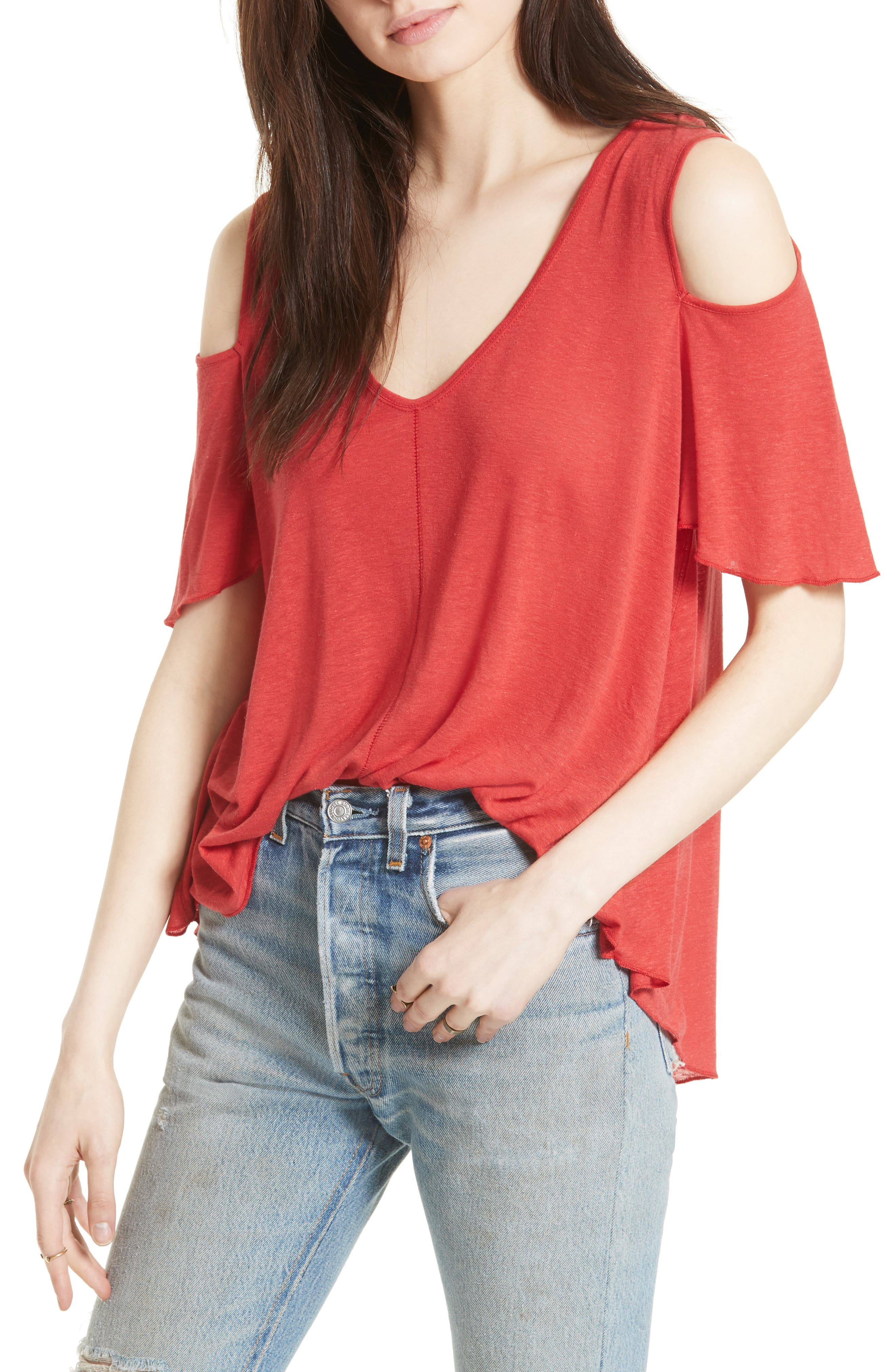Bittersweet Cold Shoulder Top,                             Main thumbnail 8, color,