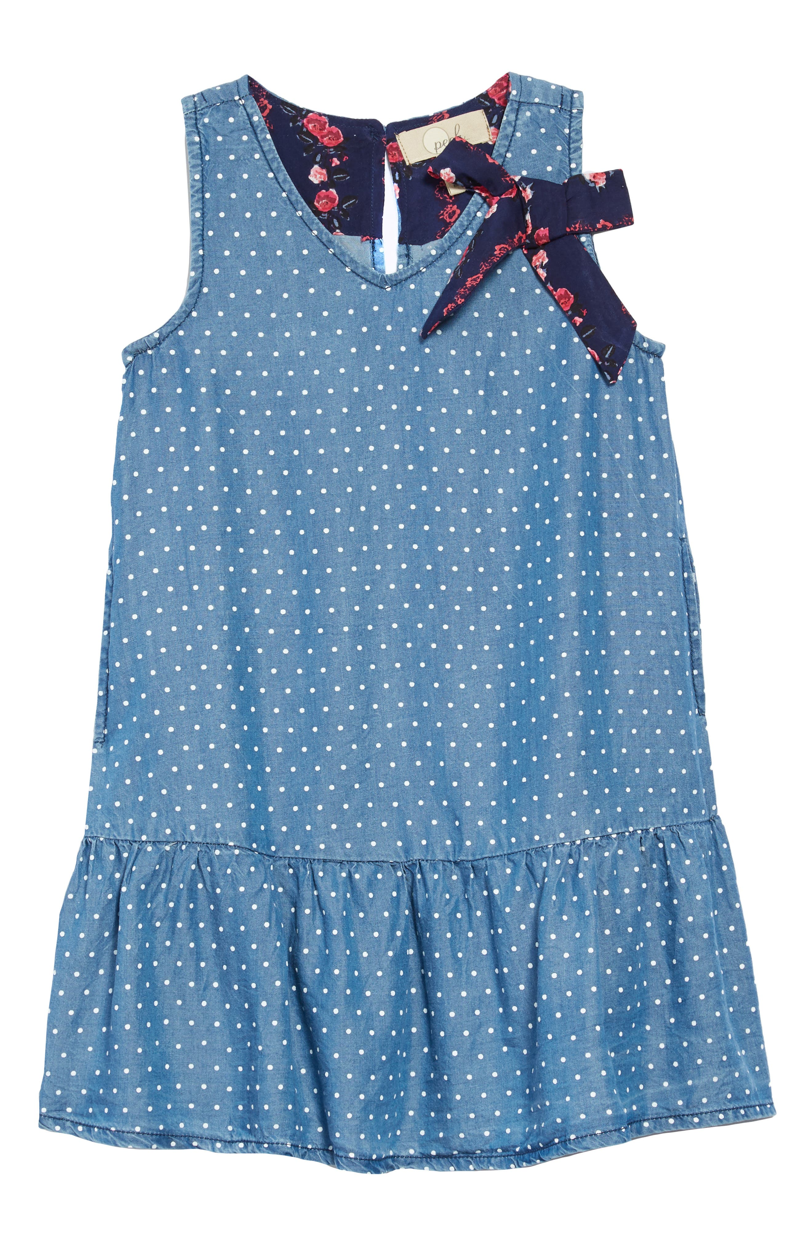 Miley Chambray Drop Waist Dress,                         Main,                         color, BLUE