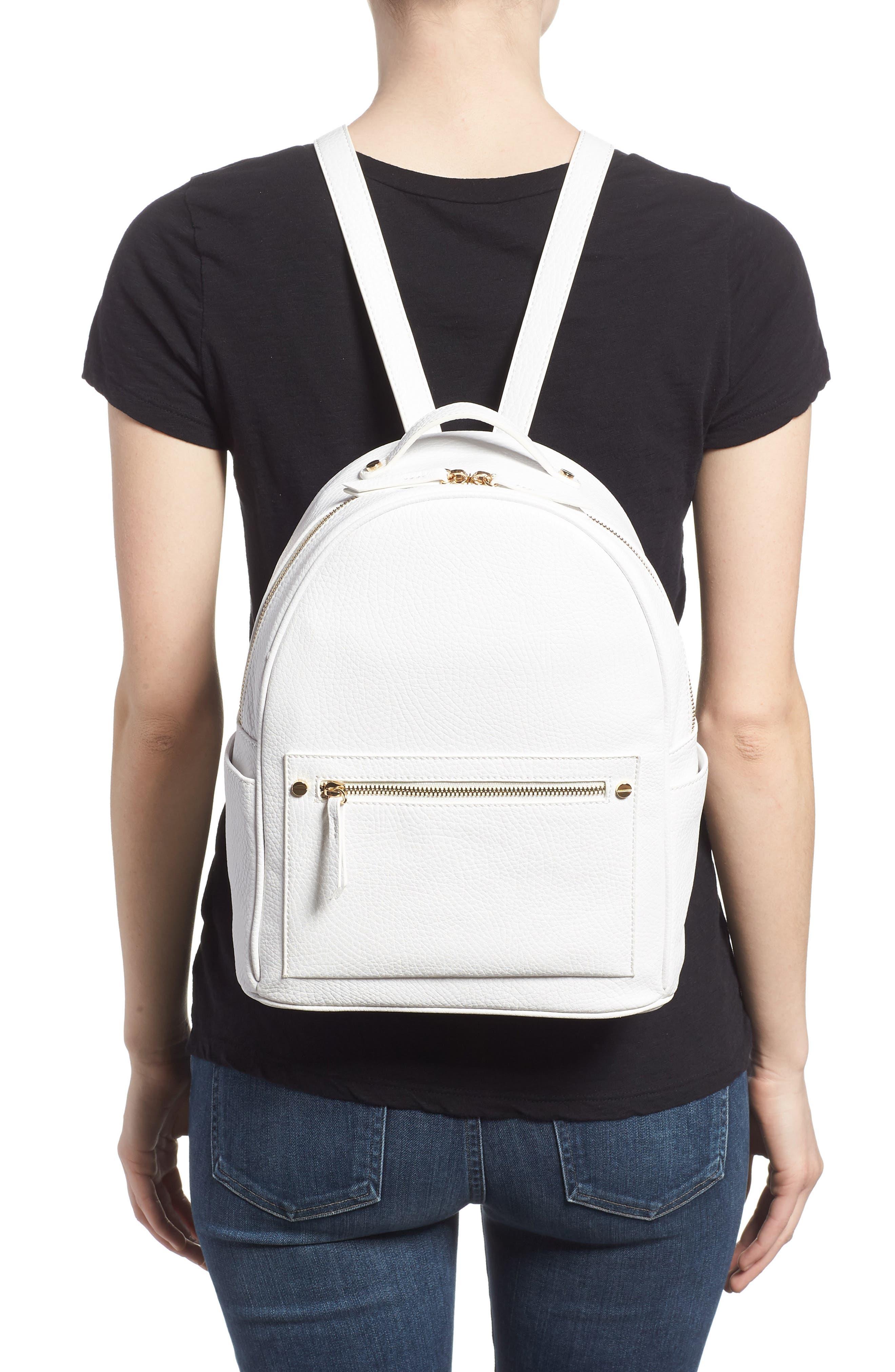 Mali + Lili Madison Vegan Leather Backpack,                             Alternate thumbnail 5, color,