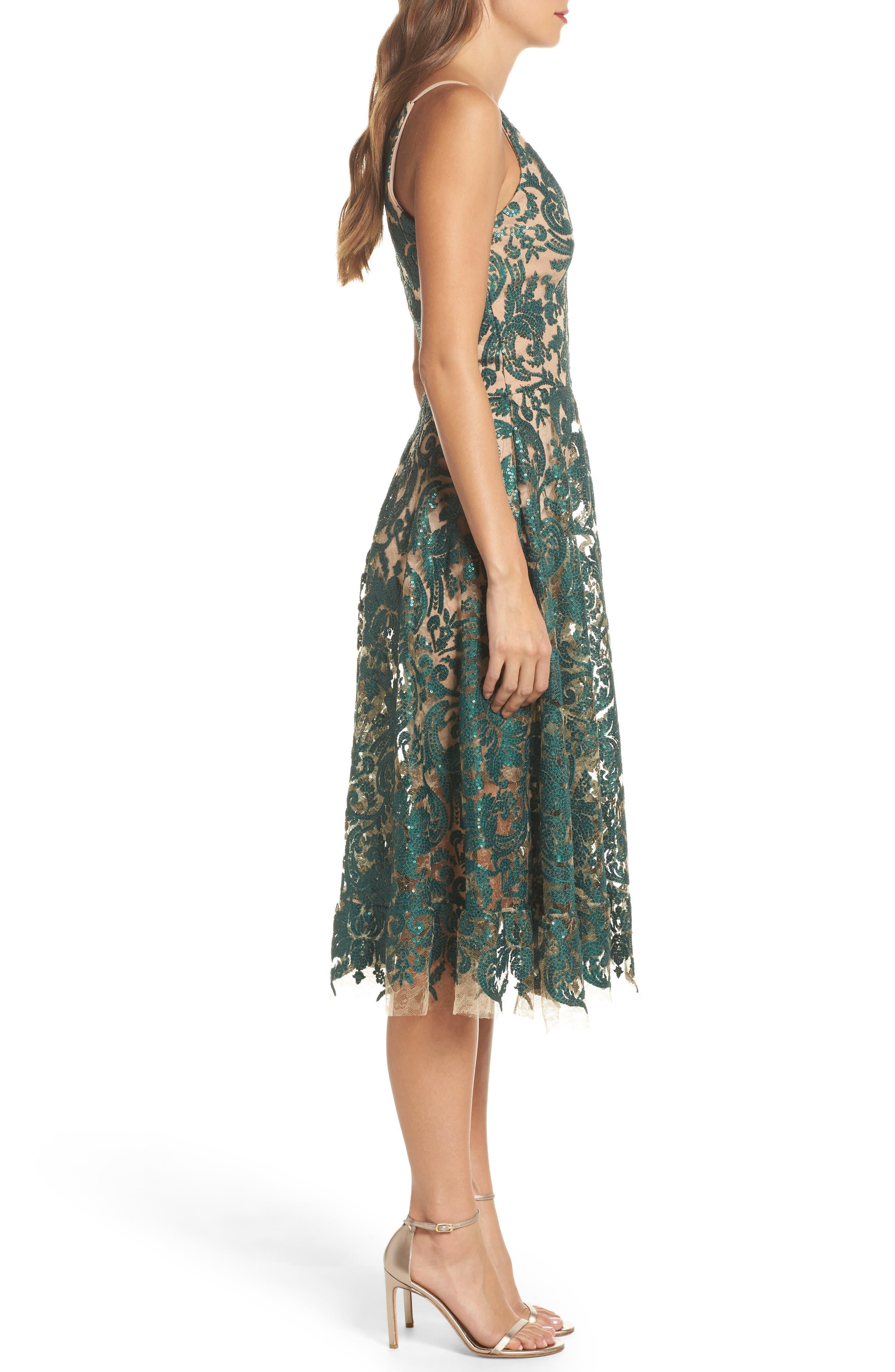 Blair Embellished Fit & Flare Dress,                             Alternate thumbnail 18, color,