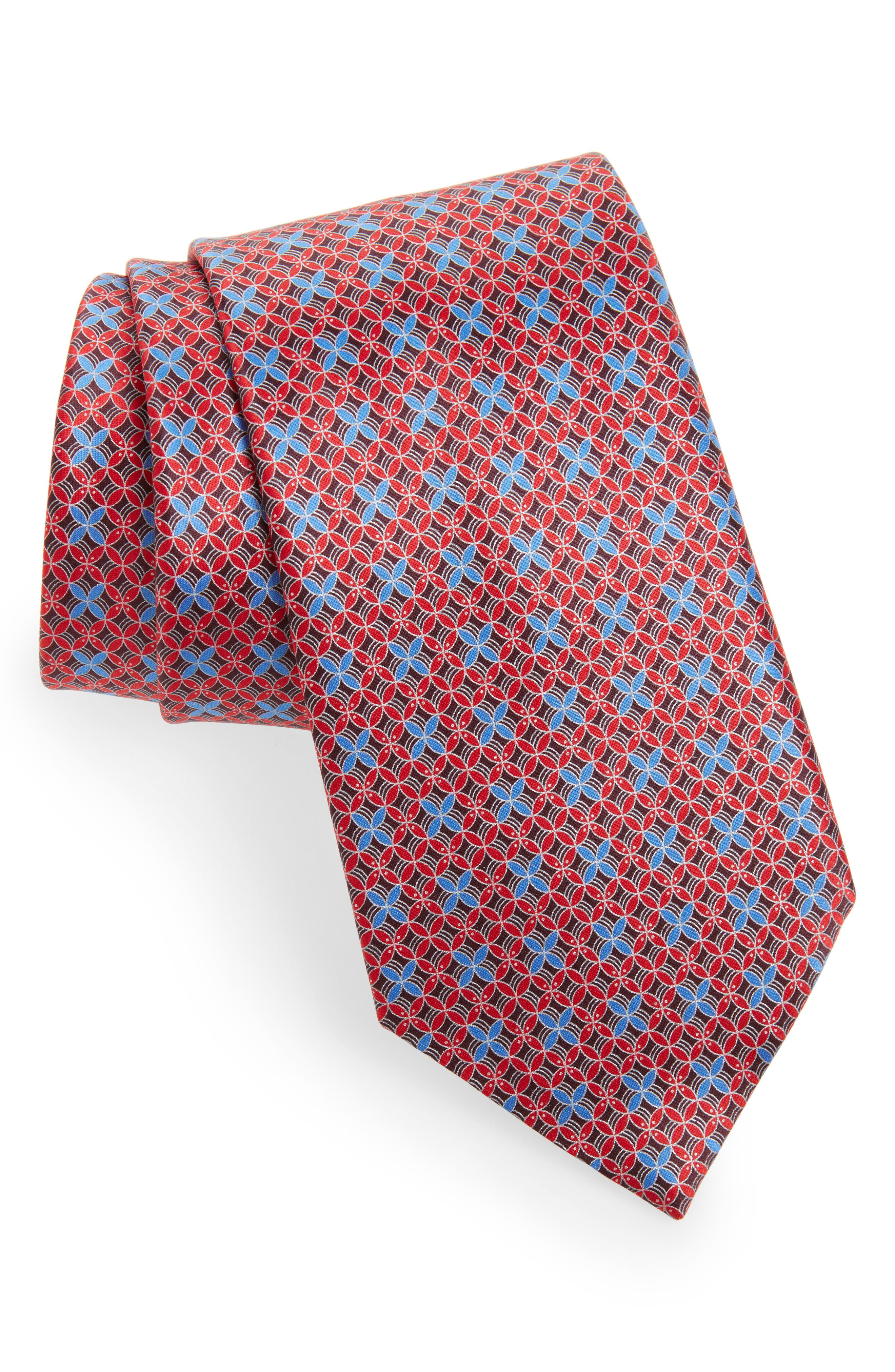 Geometric Silk Tie,                             Main thumbnail 2, color,