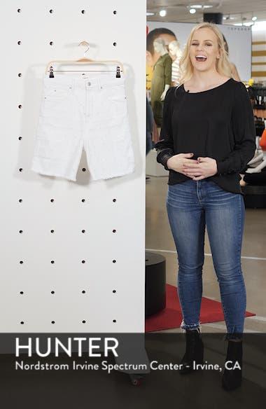 Liny Shredded Dot Denim Shorts, sales video thumbnail