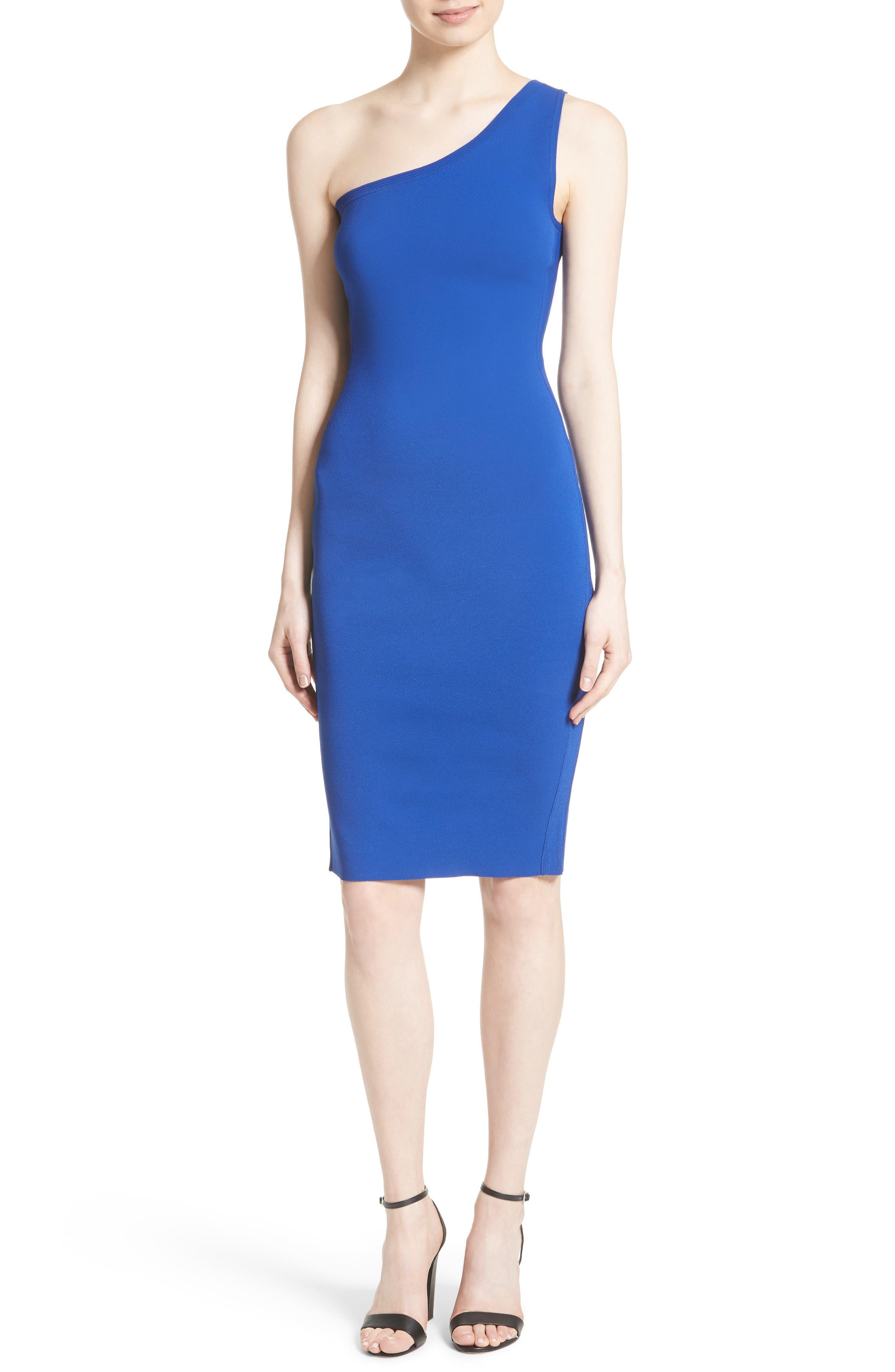 One-Shoulder Knit Dress,                             Main thumbnail 2, color,