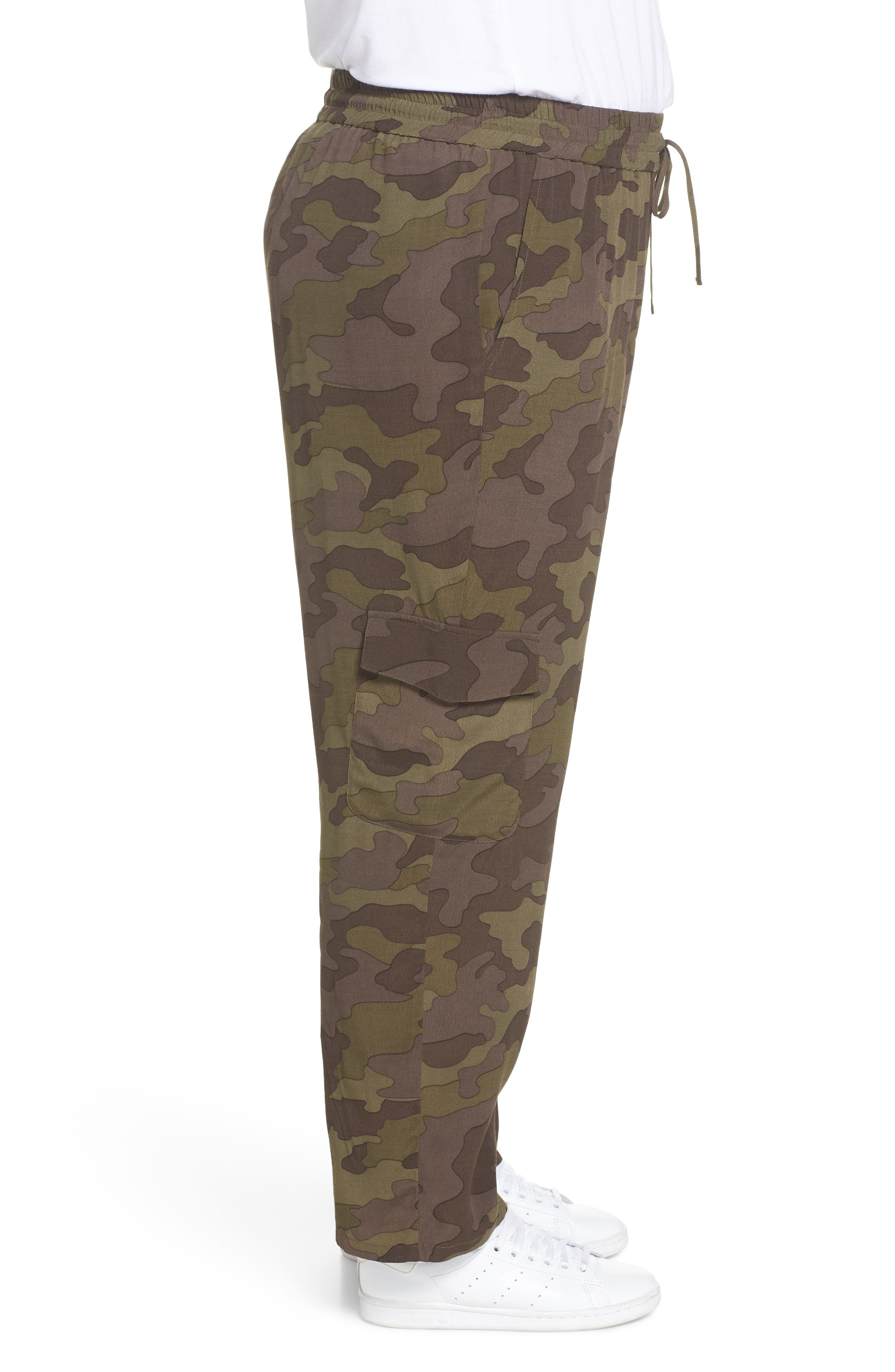 High Rise Camouflage Cargo Pants,                             Alternate thumbnail 4, color,                             210
