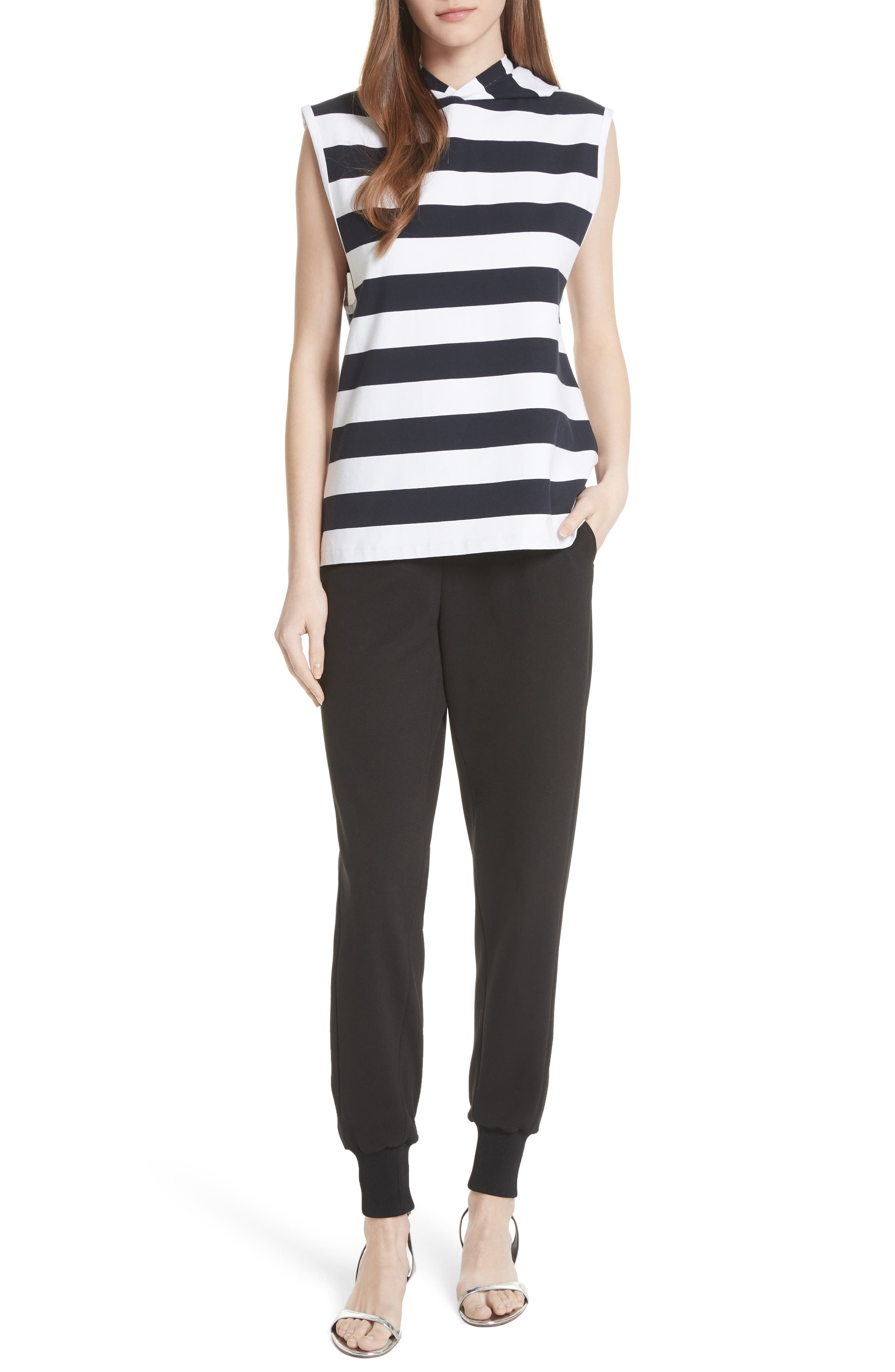 Muscle Stripe Stretch Cotton Tee,                             Alternate thumbnail 7, color,                             412