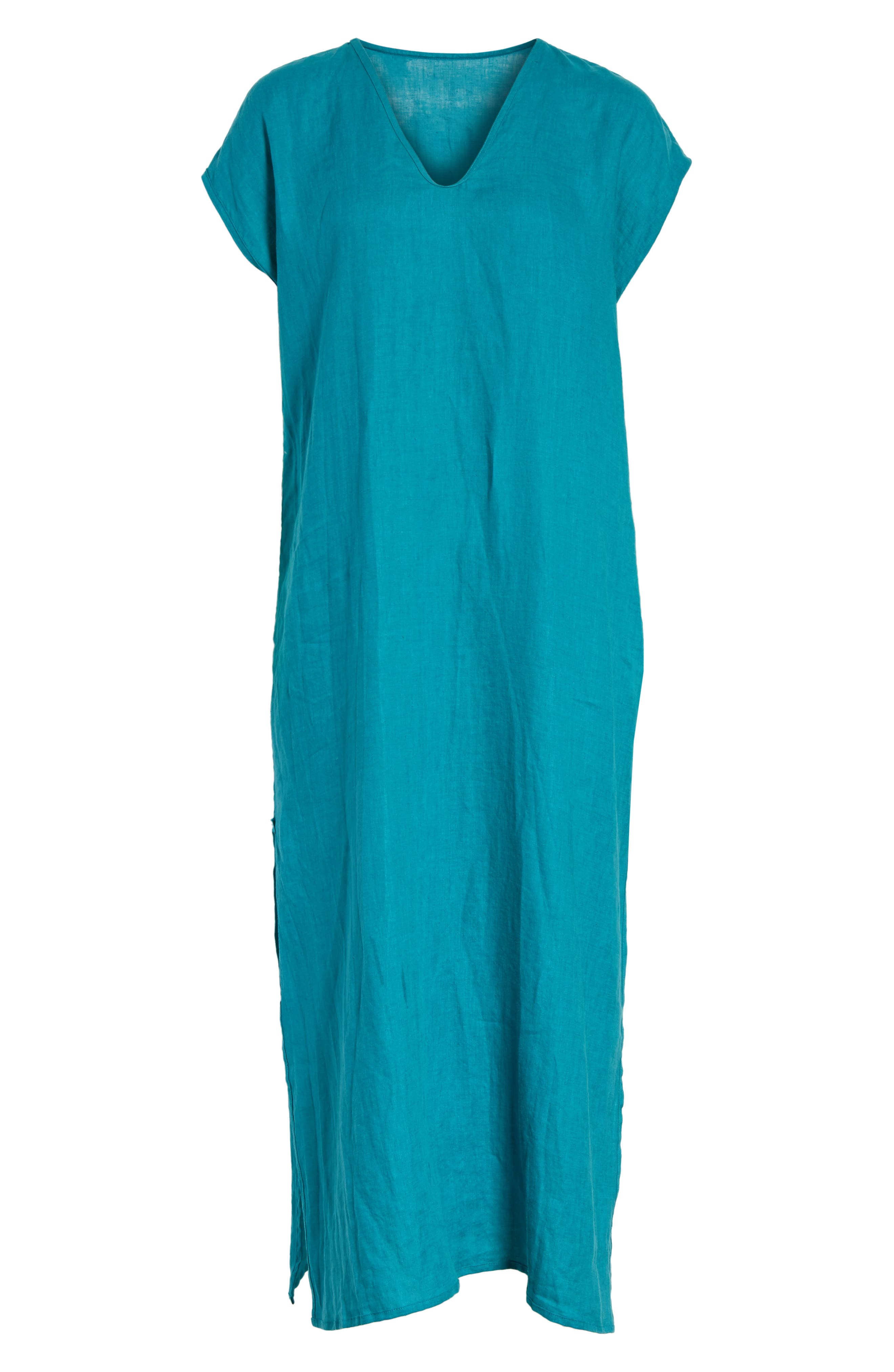 Cecil Cap Sleeve Tunic Dress,                             Alternate thumbnail 6, color,                             440