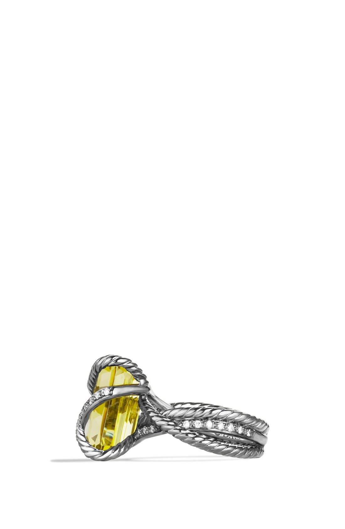 'Cable Wrap' Ring with Lemon Citrine and Diamonds,                             Alternate thumbnail 3, color,                             720