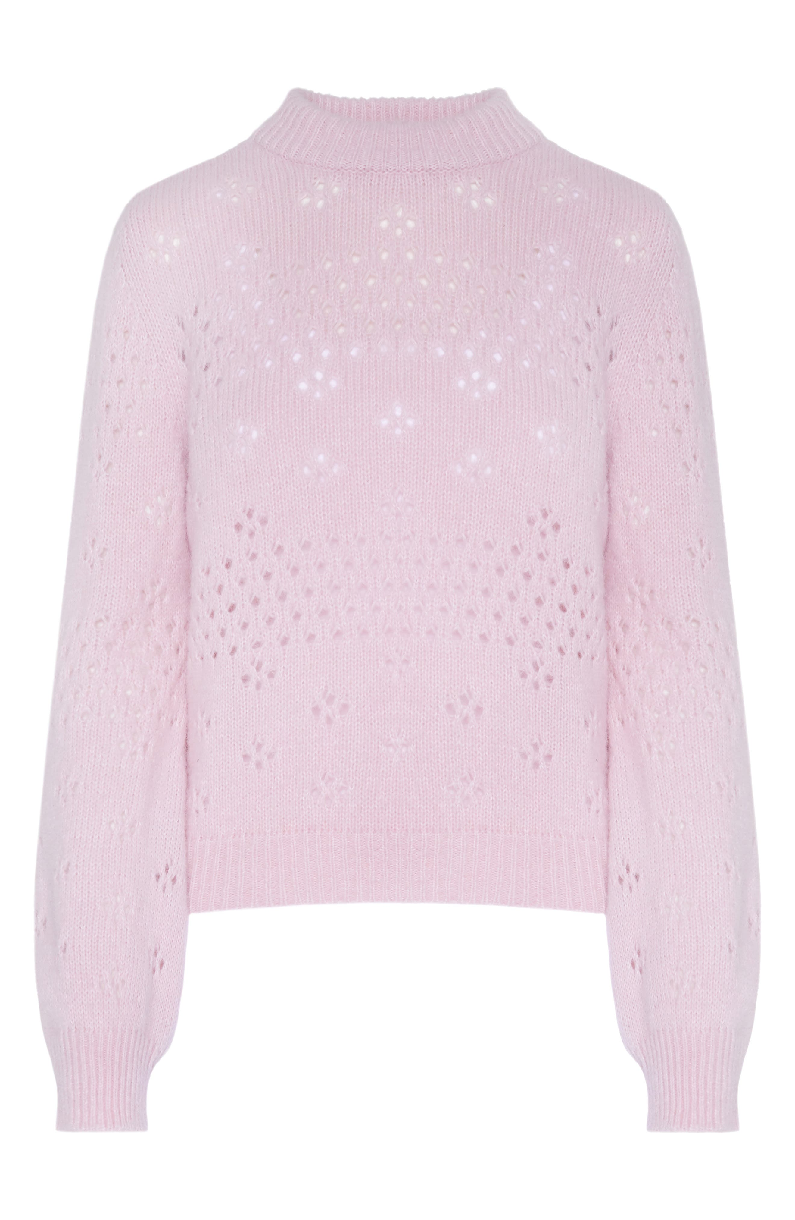 Candice Pointelle Sweater,                             Alternate thumbnail 2, color,                             ROSE