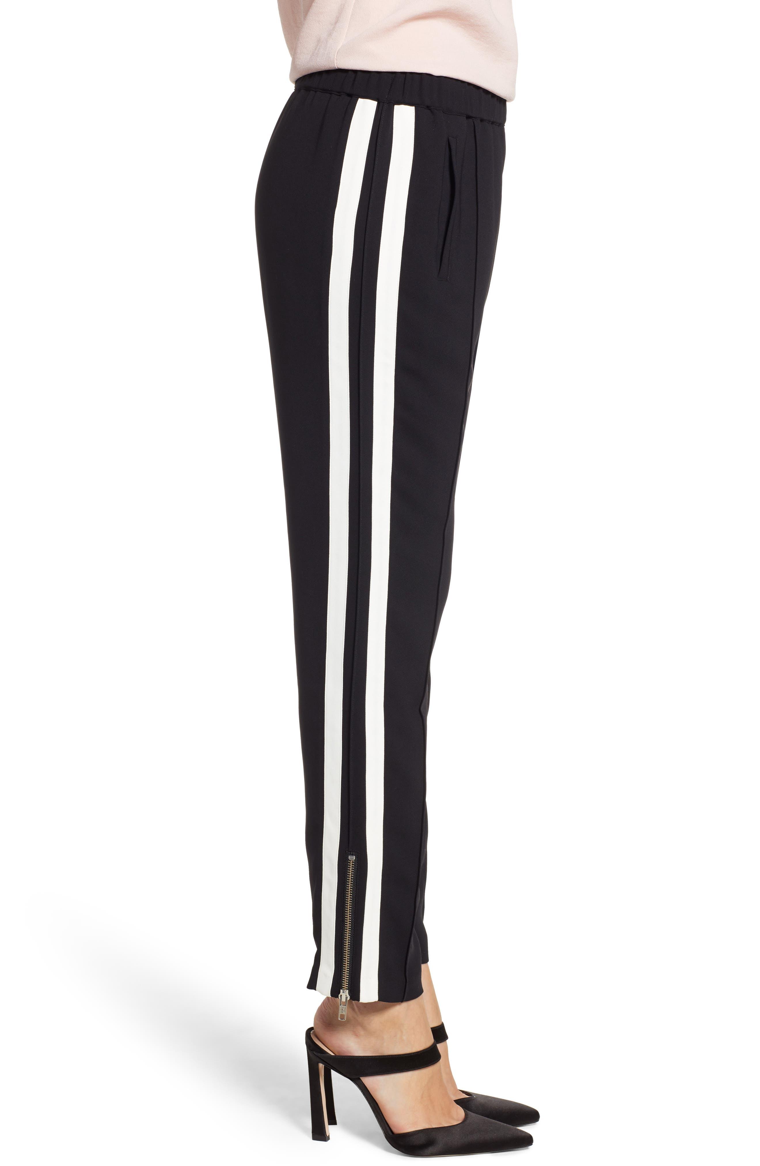 Side Stripe Track Pants,                             Alternate thumbnail 3, color,                             BLACK COMBO