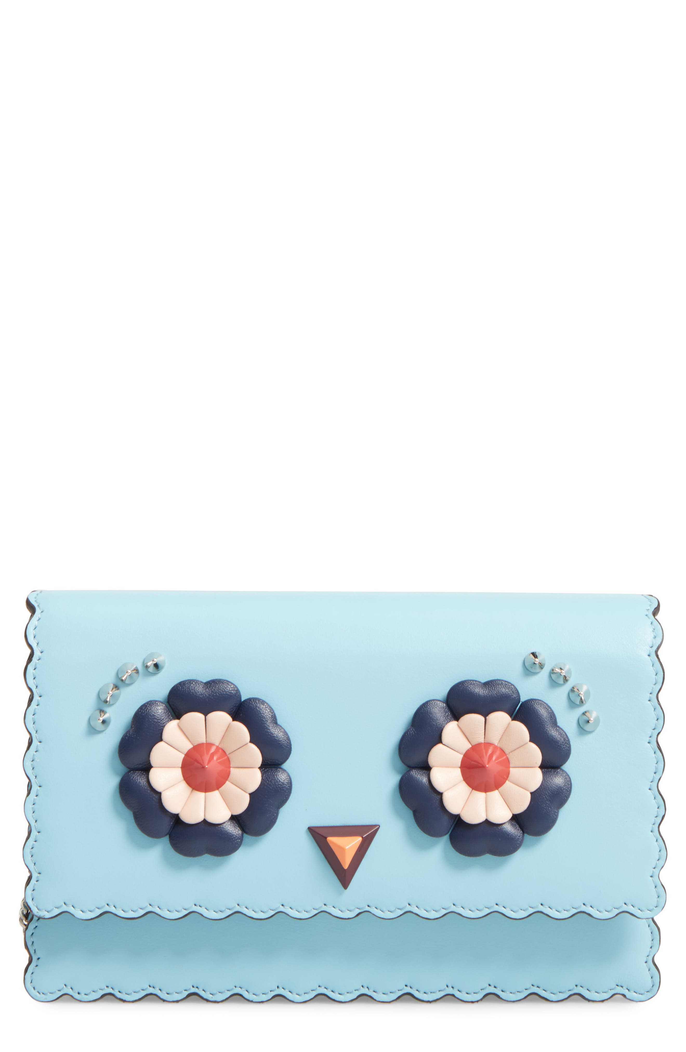 Faces Leather Tube Wallet on a Chain,                             Main thumbnail 1, color,