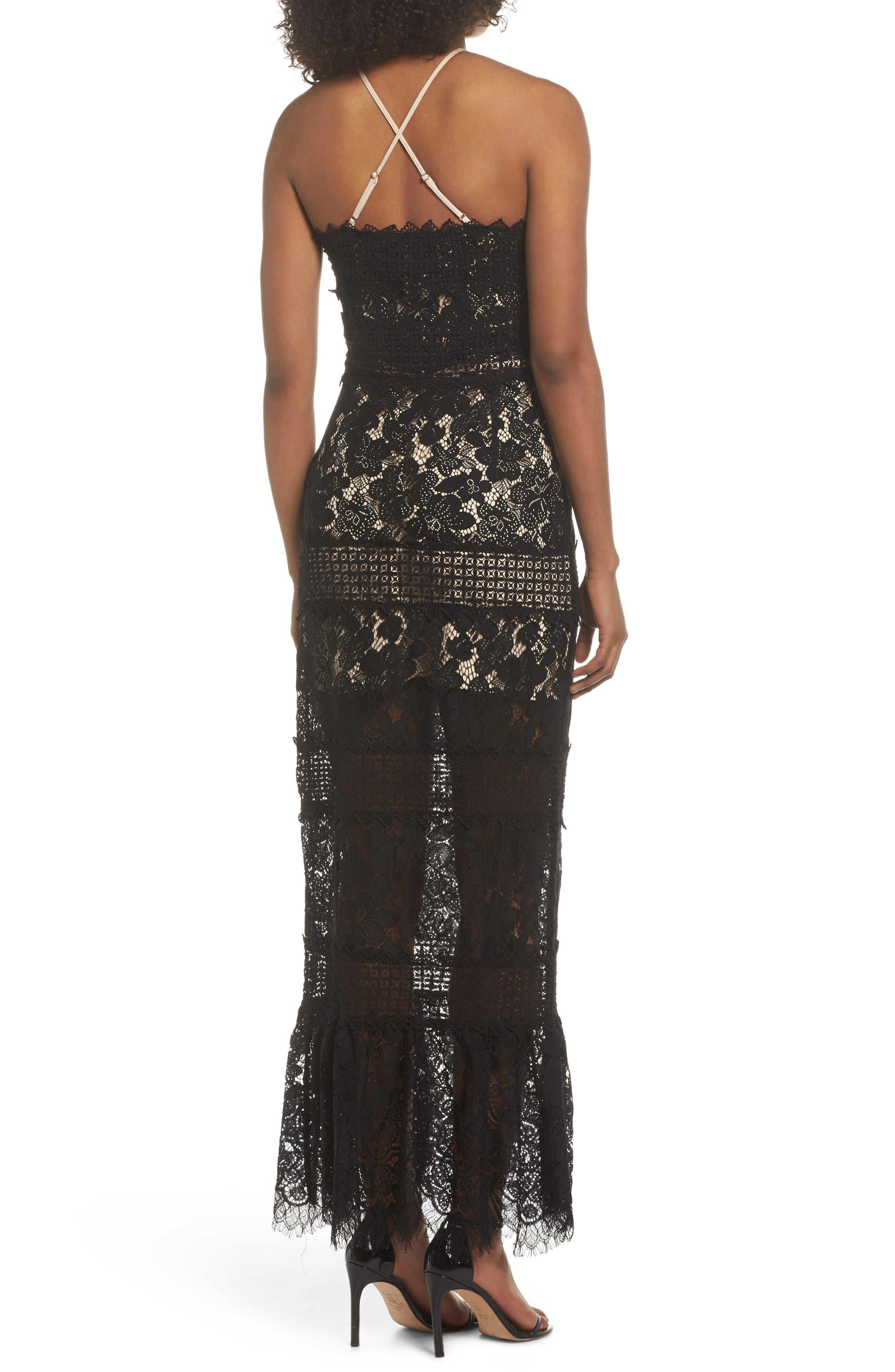 Tabitha Lace Maxi Dress,                             Alternate thumbnail 2, color,                             001
