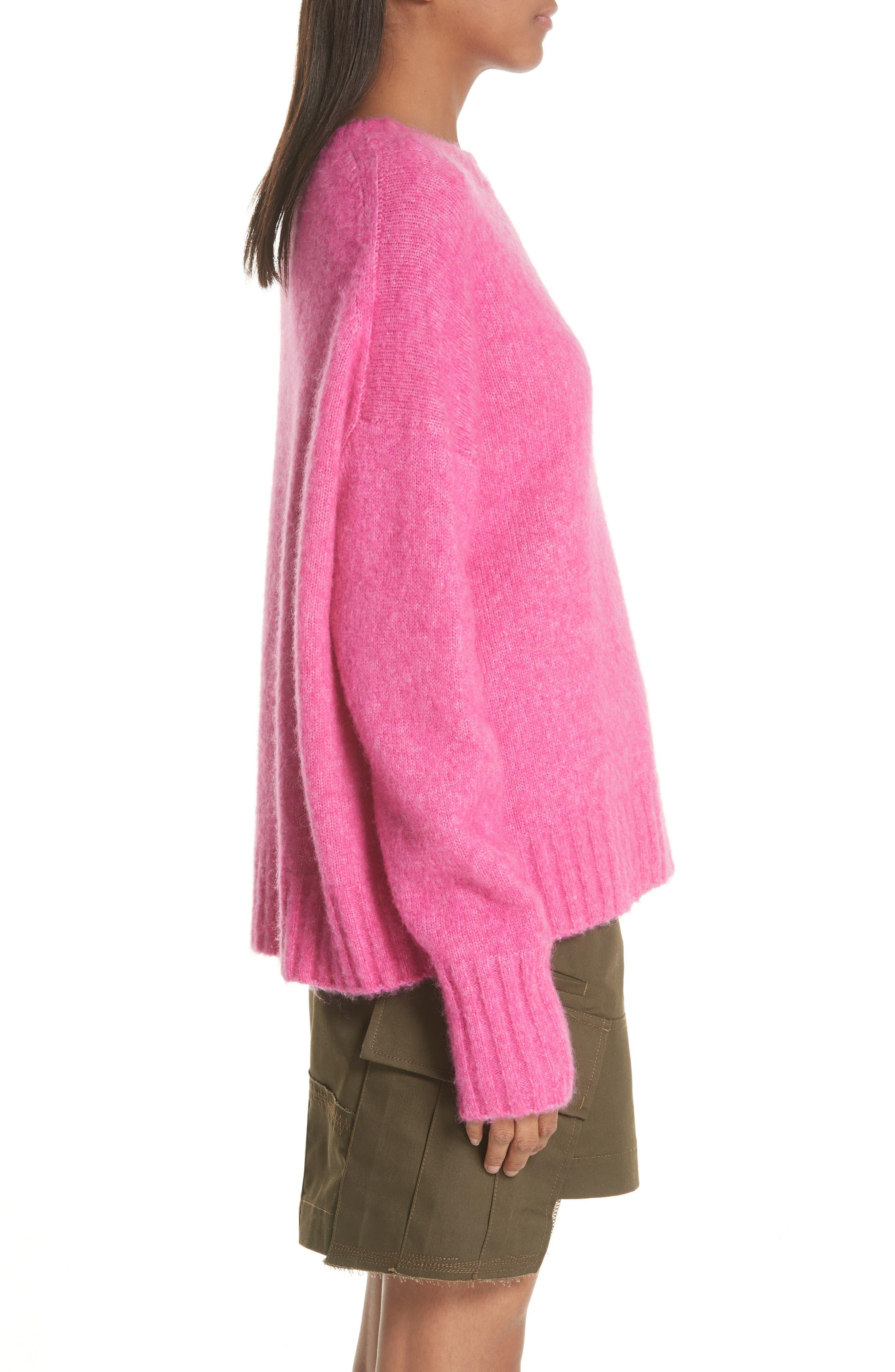 Wool & Alpaca Blend Sweater,                             Alternate thumbnail 3, color,                             653