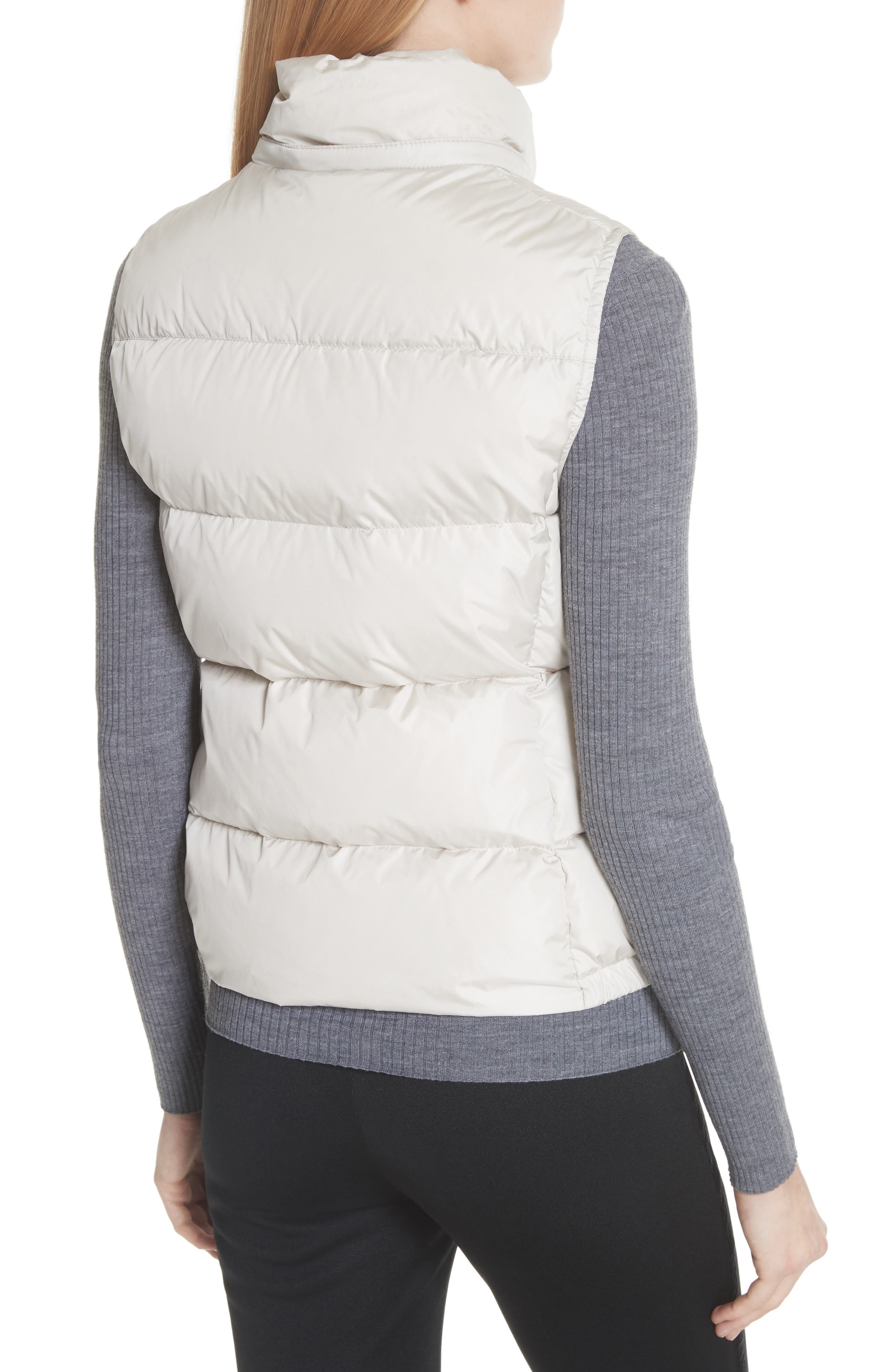 Gallinule Quilted Down Vest with Detachable Genuine Fox Fur Trim Hood,                             Alternate thumbnail 2, color,                             CHAMPAGNE