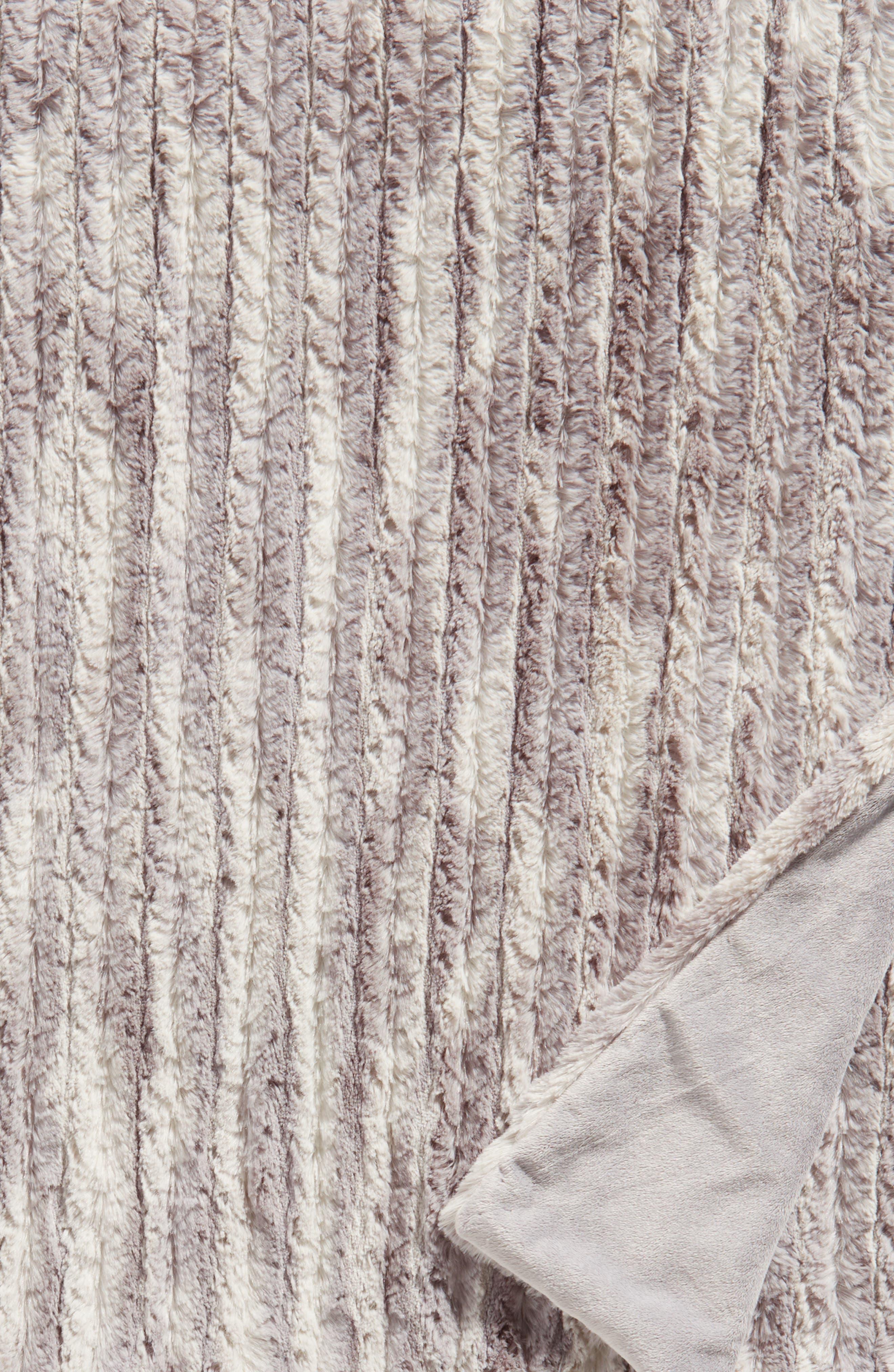 Nordstrom Cozy Plush Faux Fur Blanket,                             Alternate thumbnail 2, color,                             021