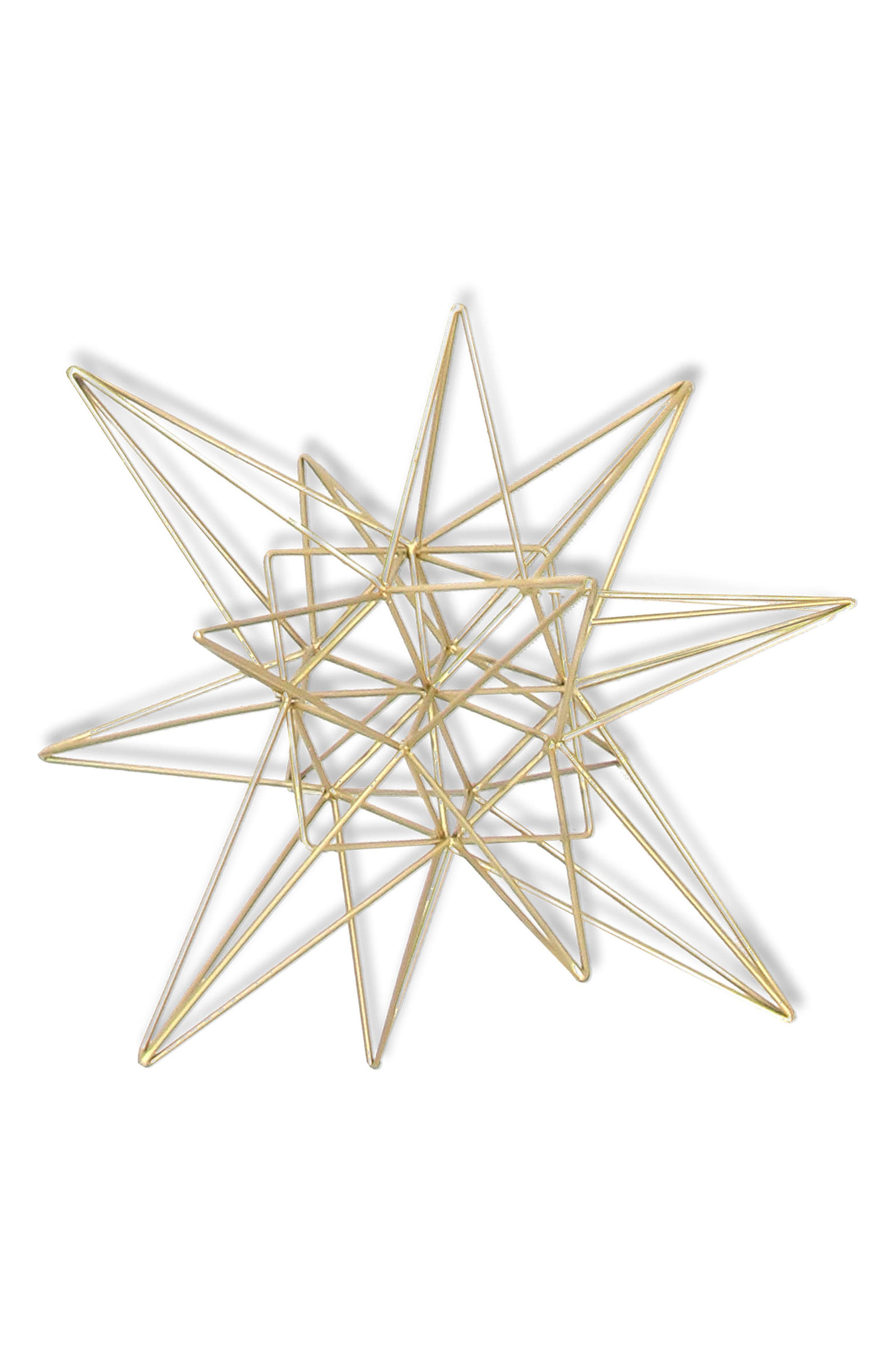 3D Star Goldtone Tabletop Decoration,                             Main thumbnail 1, color,                             710