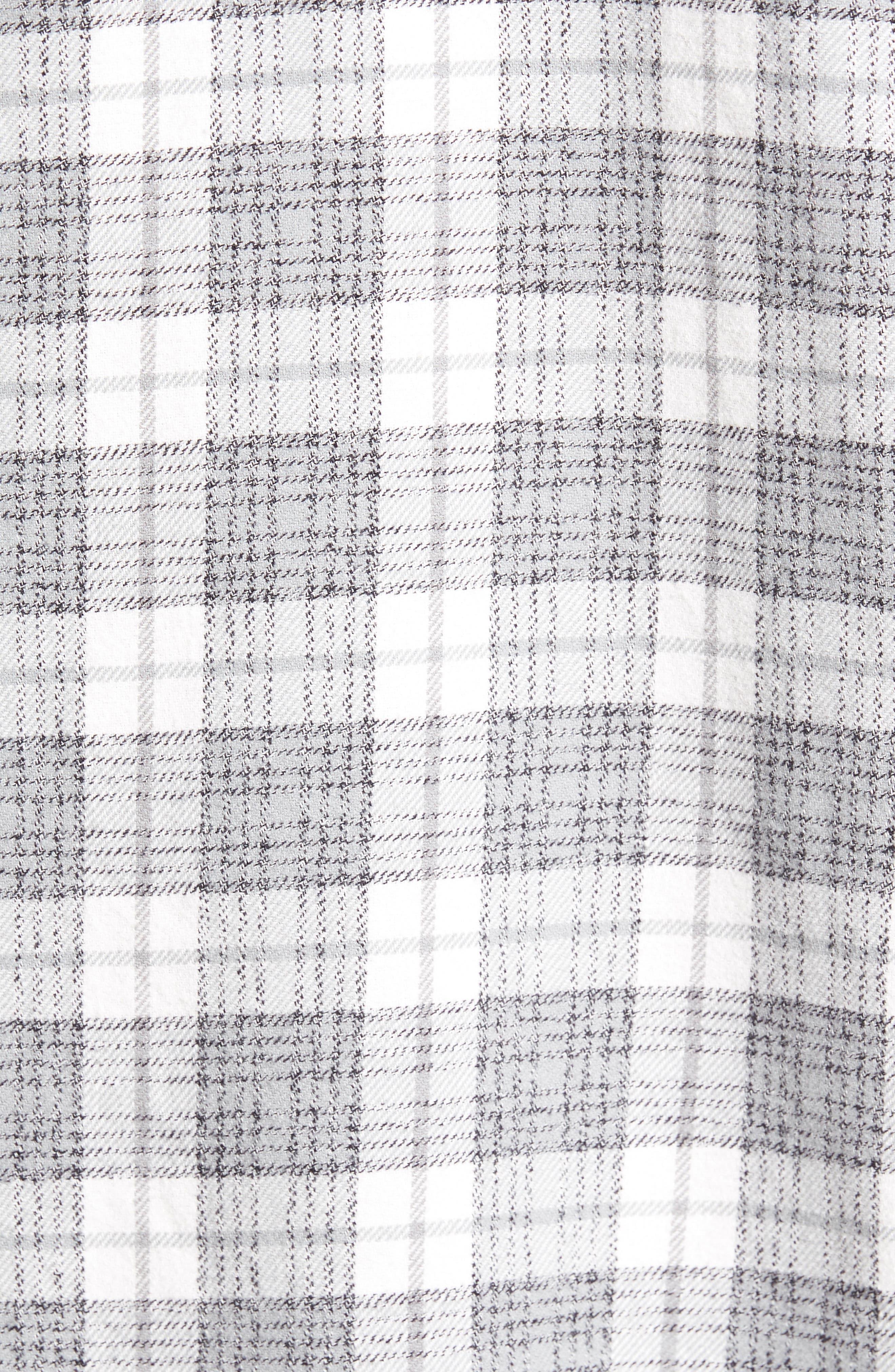 'That'll Work' Trim Fit Plaid Flannel Shirt,                             Alternate thumbnail 5, color,                             ANTIQUE WHITE