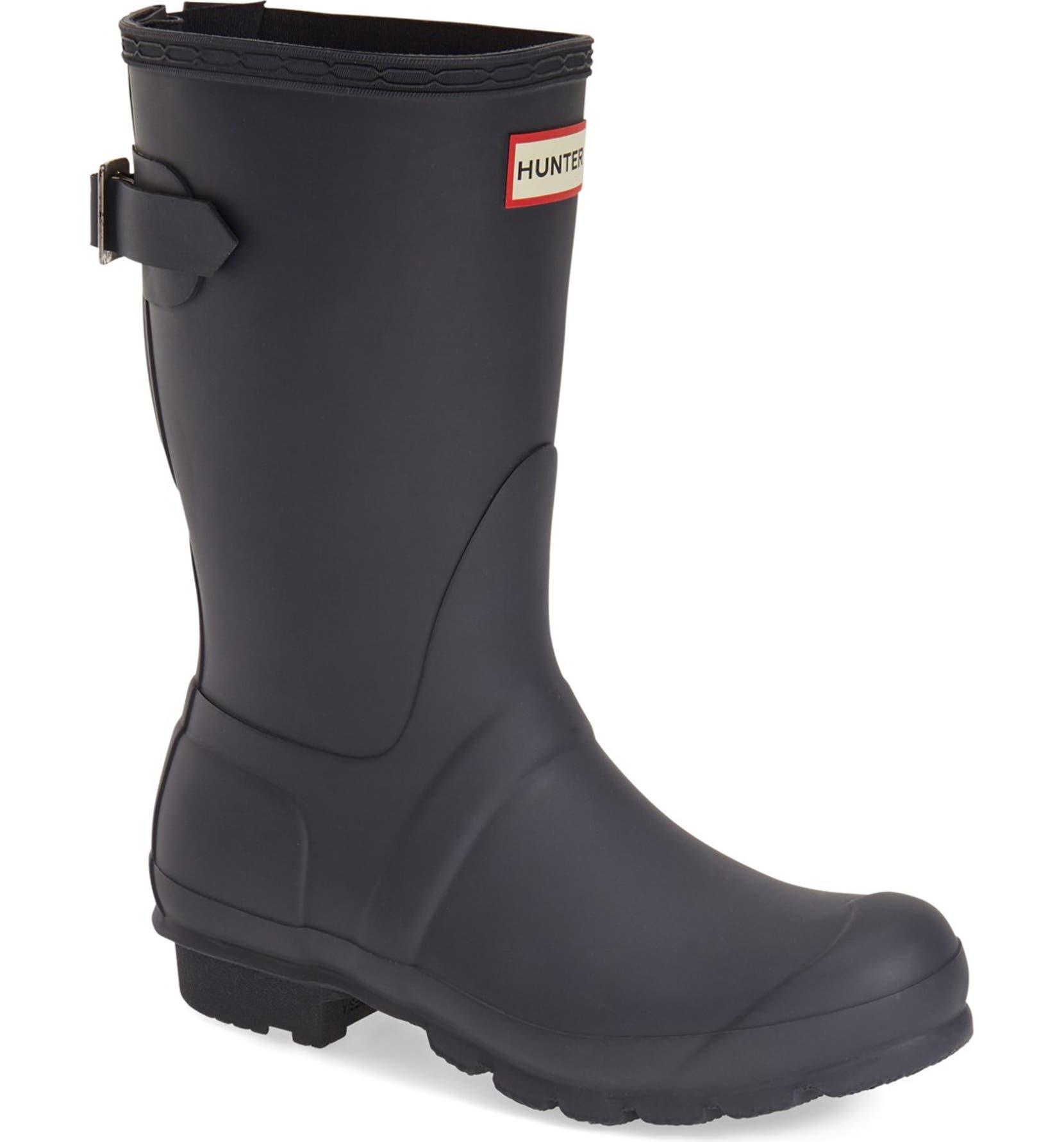 Hunter Original Short Back Adjule Waterproof Rain Boot Women Nordstrom
