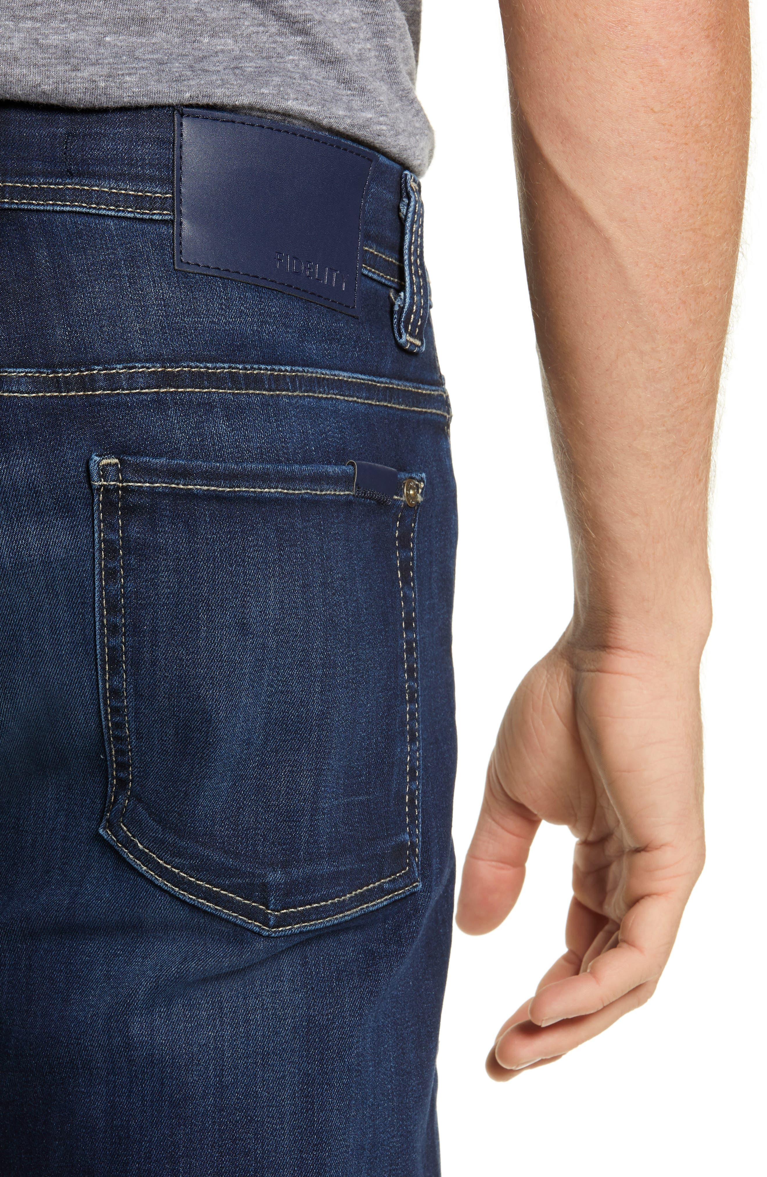 Jimmy Slim Straight Leg Jeans,                             Alternate thumbnail 4, color,                             STRIKER