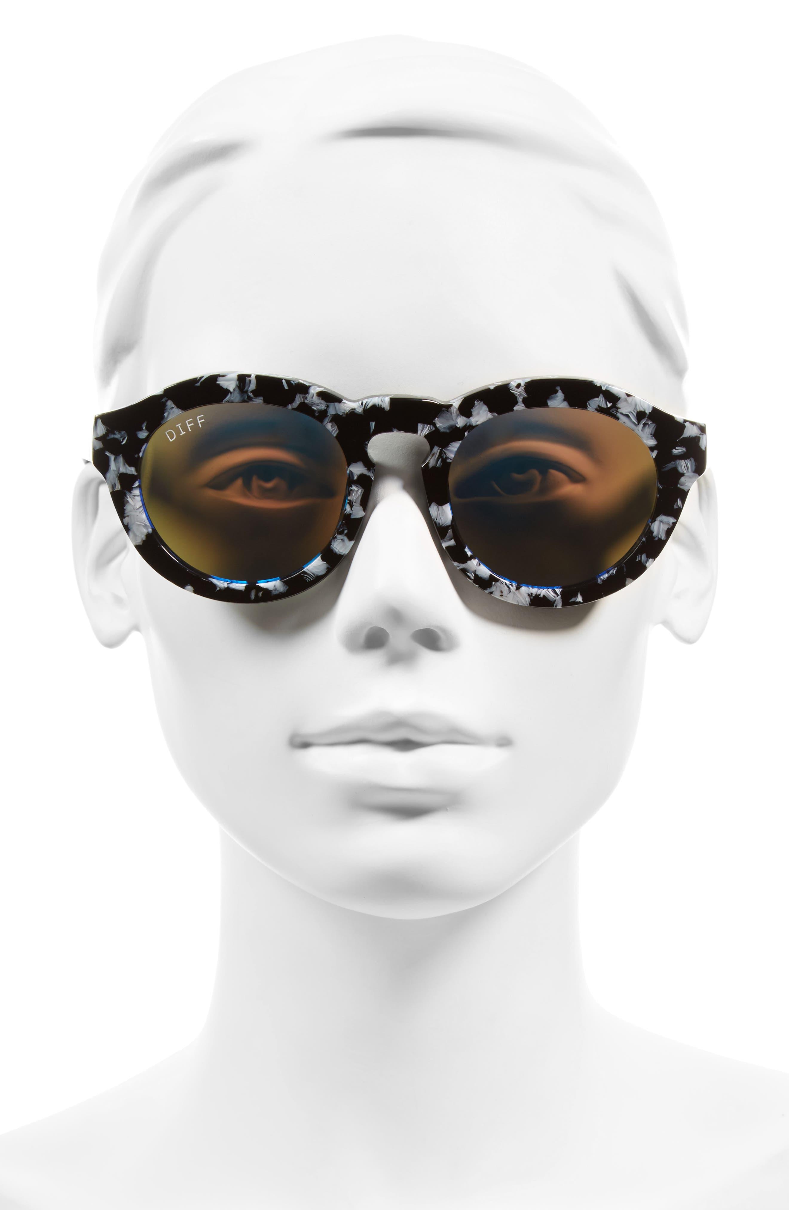 Dime 48mm Retro Sunglasses,                             Alternate thumbnail 25, color,