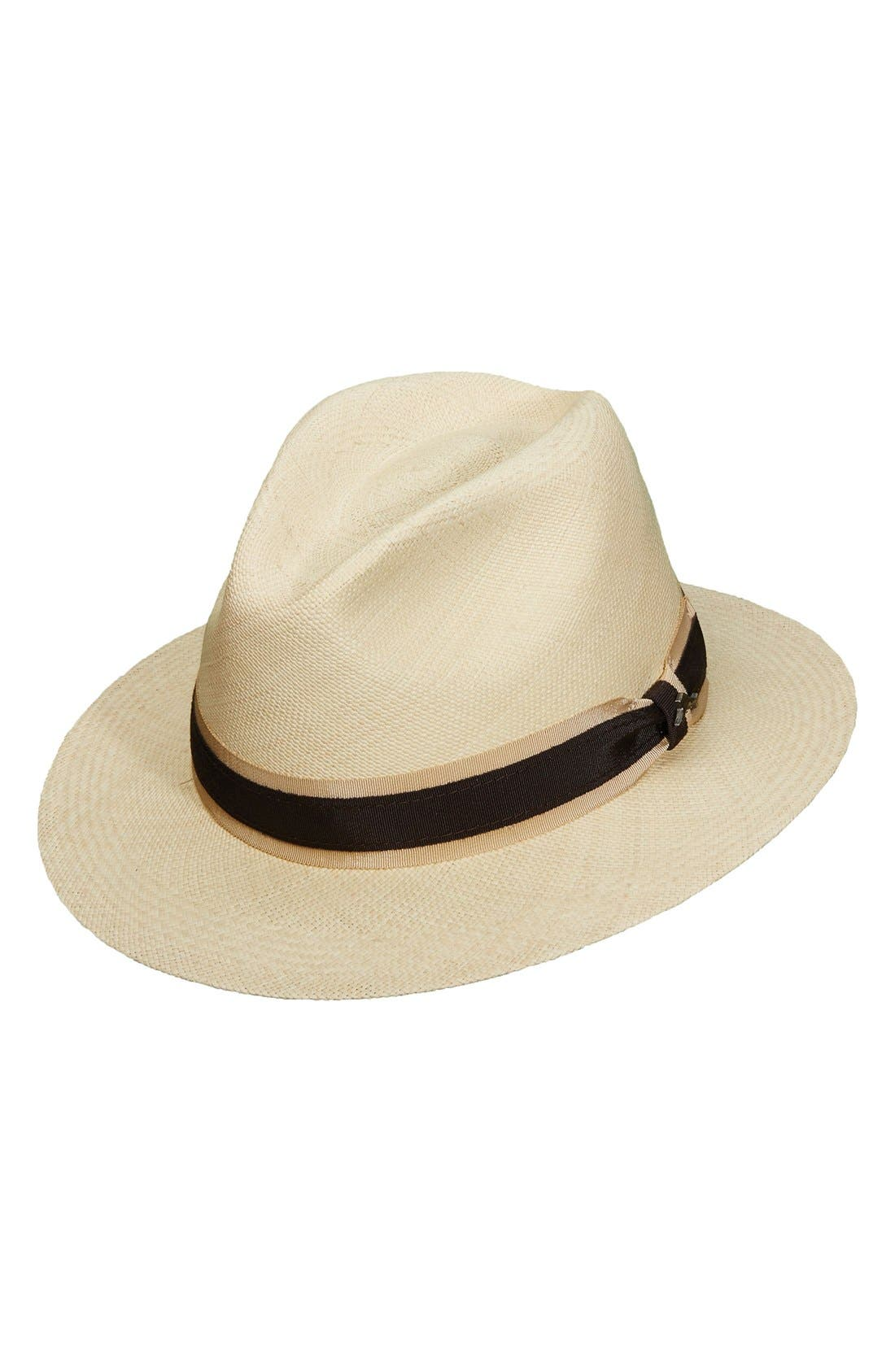Panama Straw Safari Hat,                             Main thumbnail 1, color,