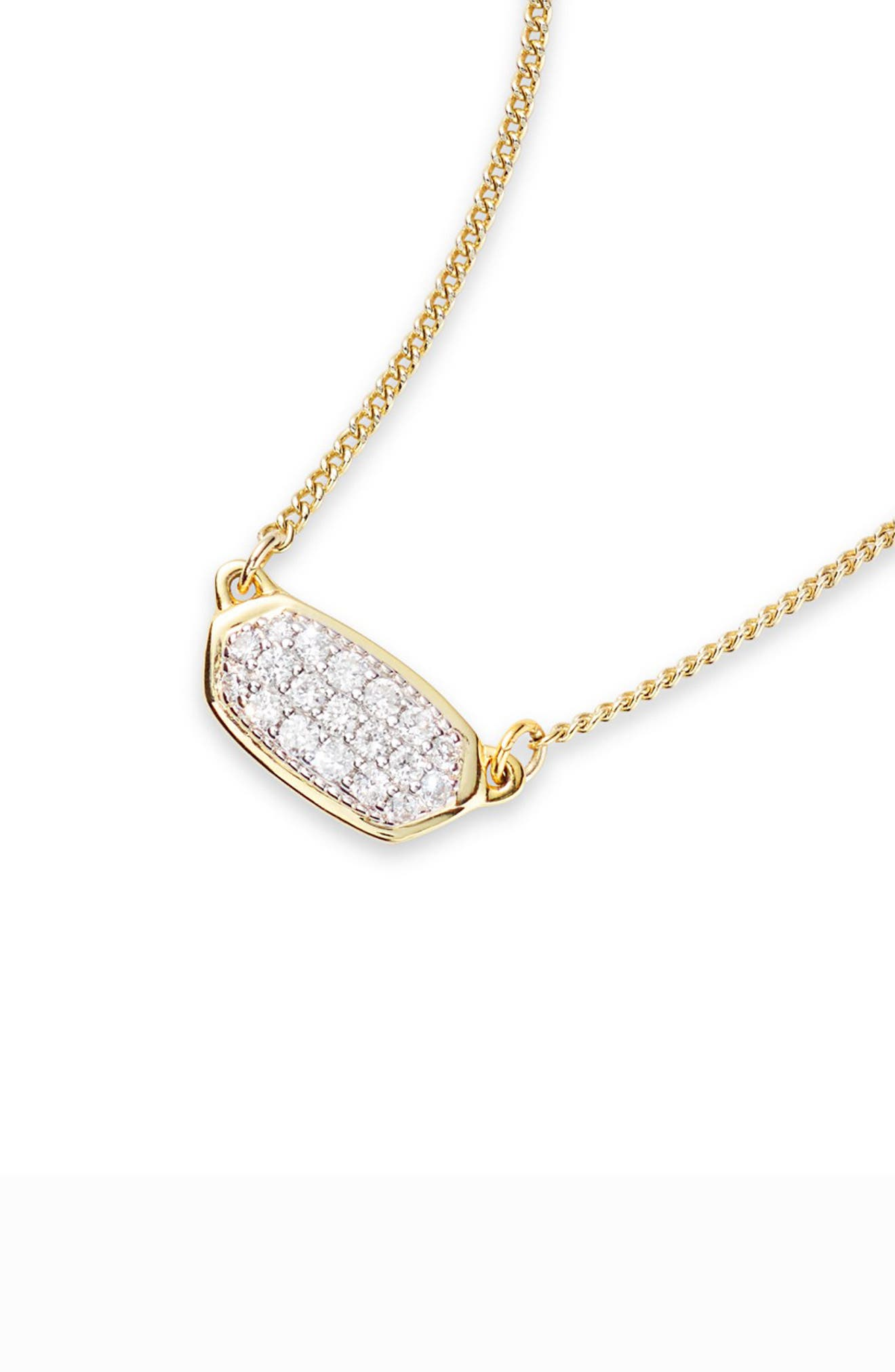 KENDRA SCOTT,                             Lisa Diamond & Gold Pendant Necklace,                             Alternate thumbnail 2, color,                             14K GOLD WHITE DIAMOND