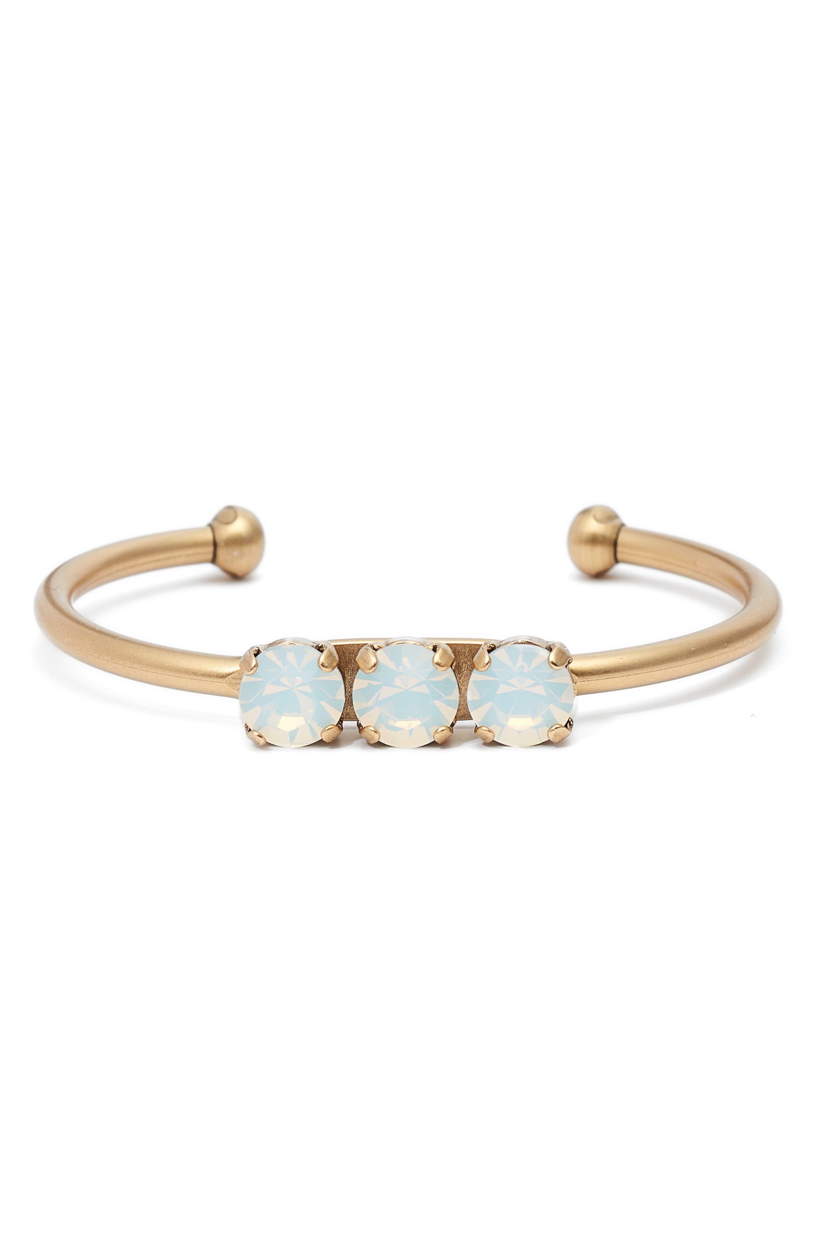Rosalie Crystal Cuff Bracelet,                             Main thumbnail 1, color,                             100