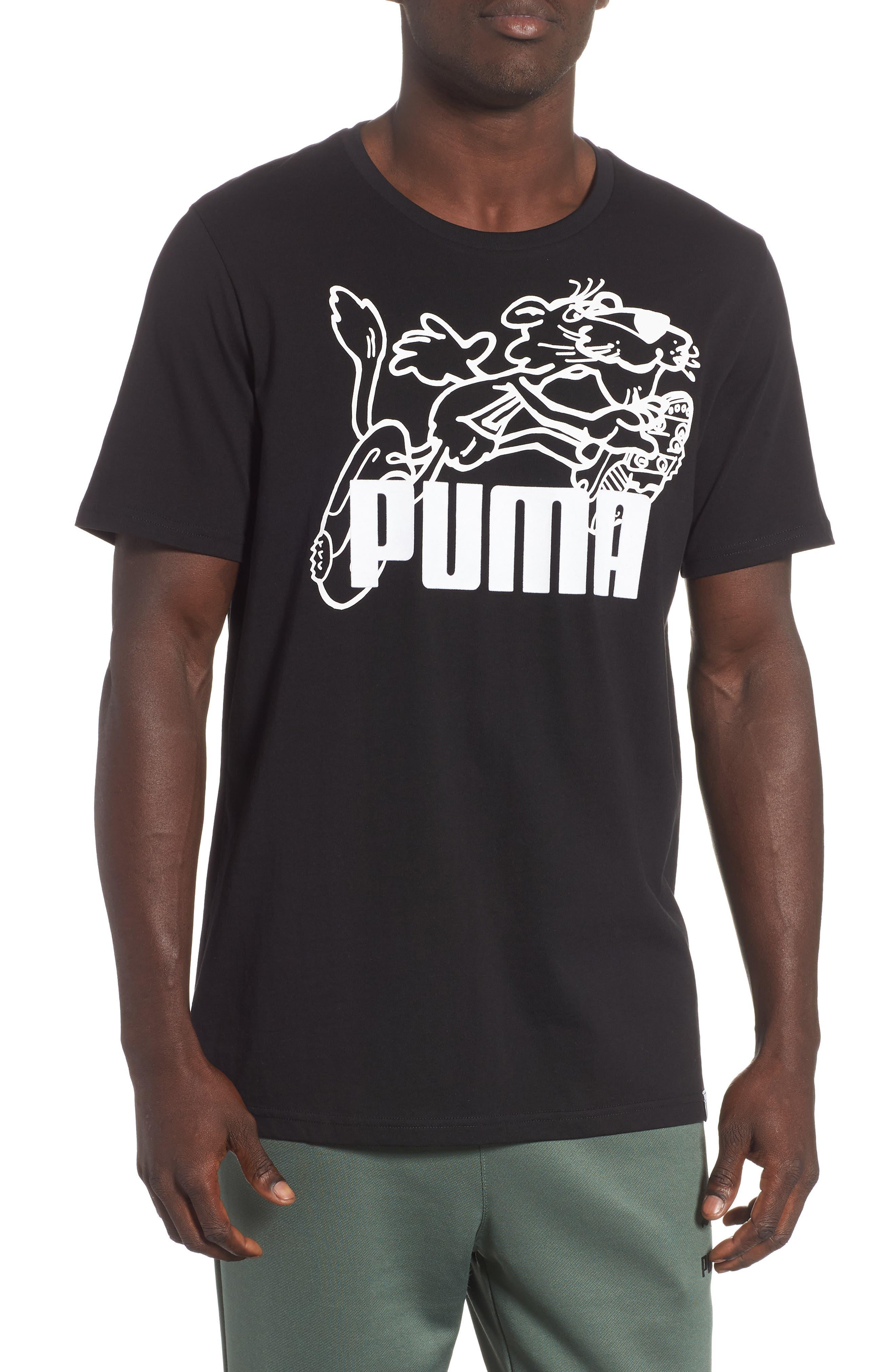 Puma Retro Sports T-Shirt, Black