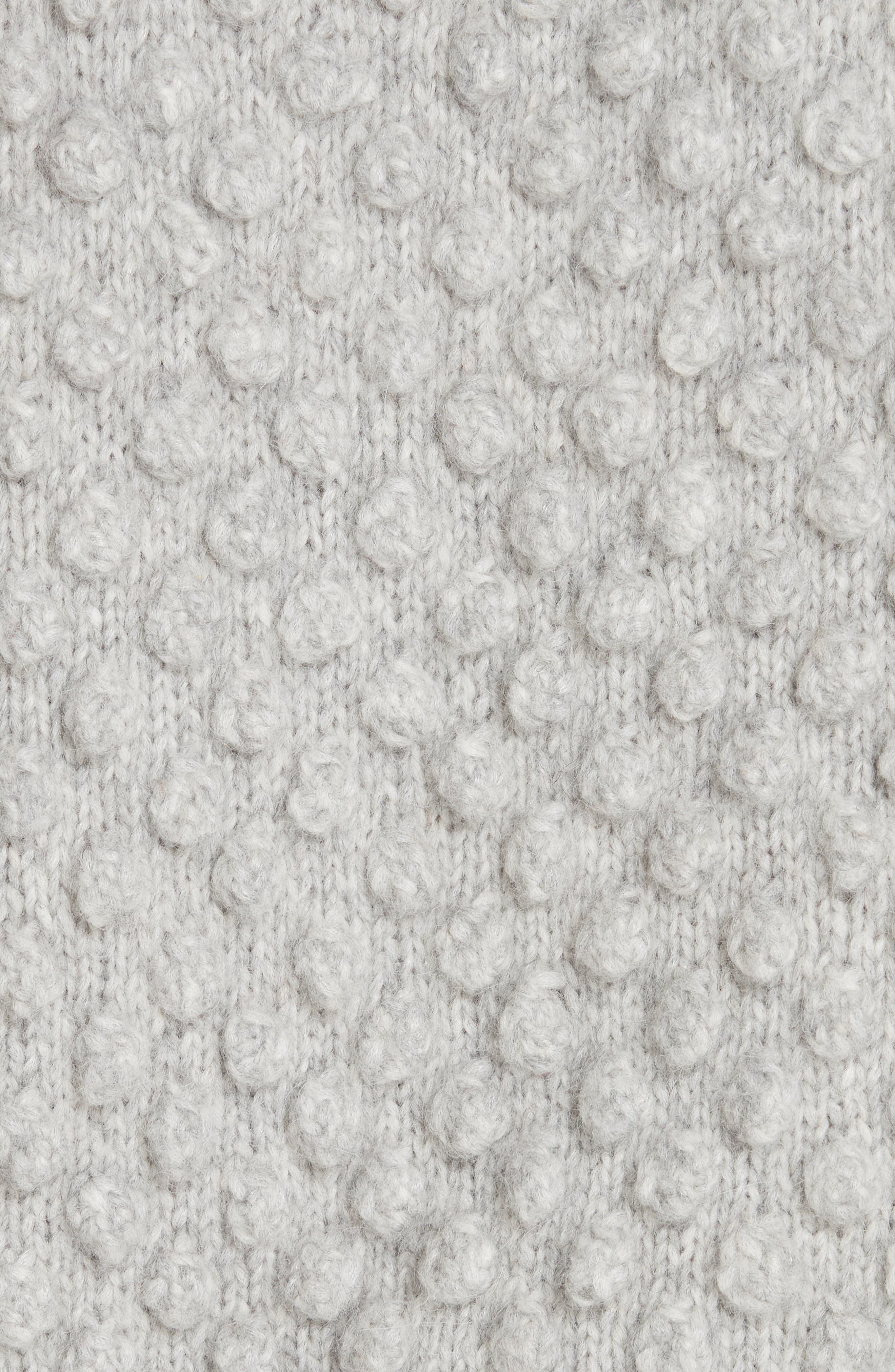 Camilla Baby Alpaca Blend Sweater,                             Alternate thumbnail 5, color,                             PALE MELANGE GREY