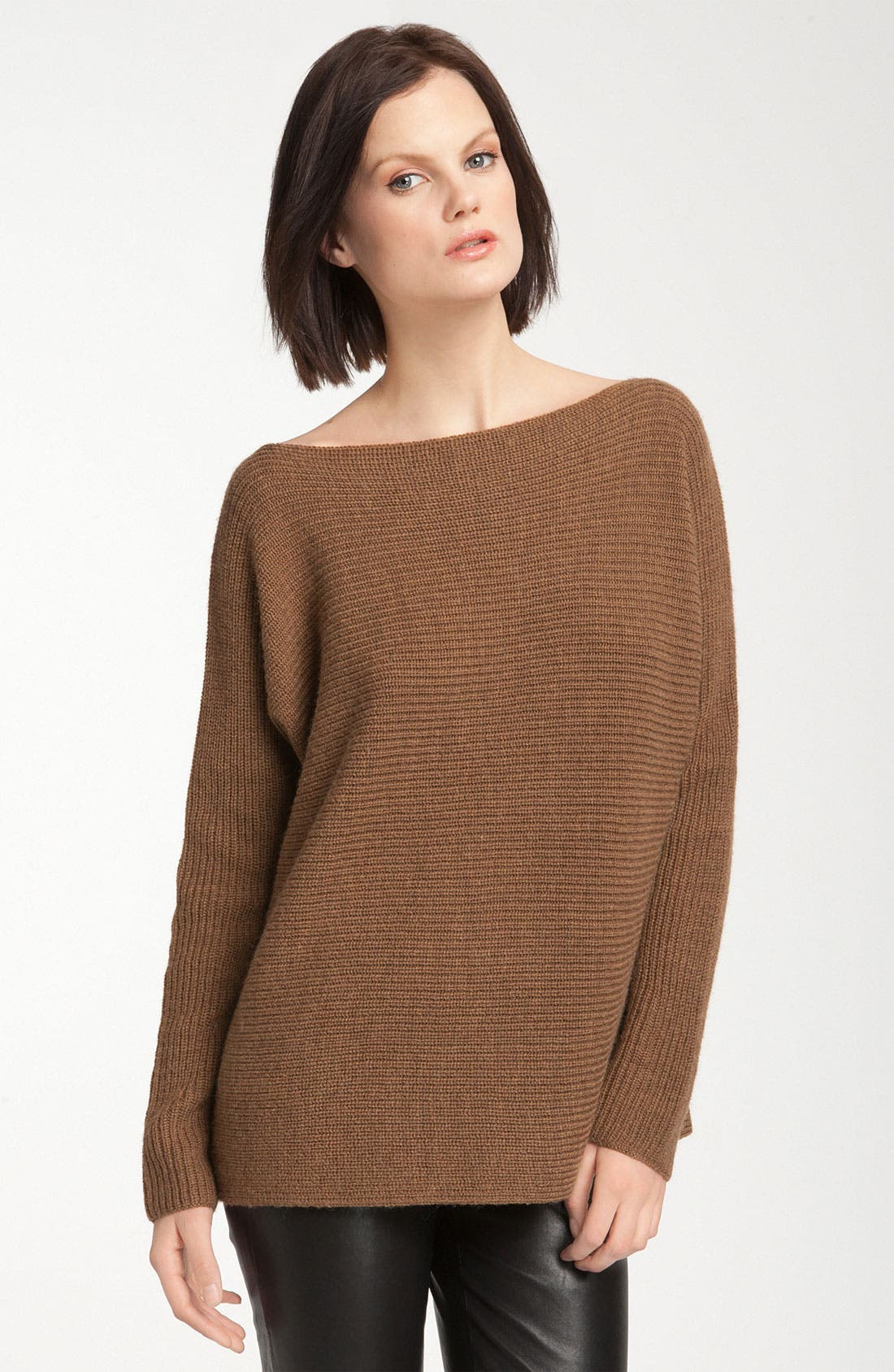 Ribbed Boatneck Sweater, Main, color, 200