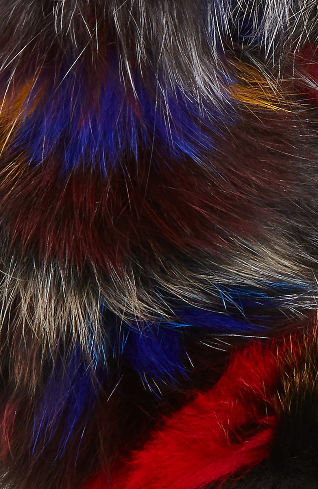 Genuine Fox Fur Infinity Scarf,                             Alternate thumbnail 3, color,                             001