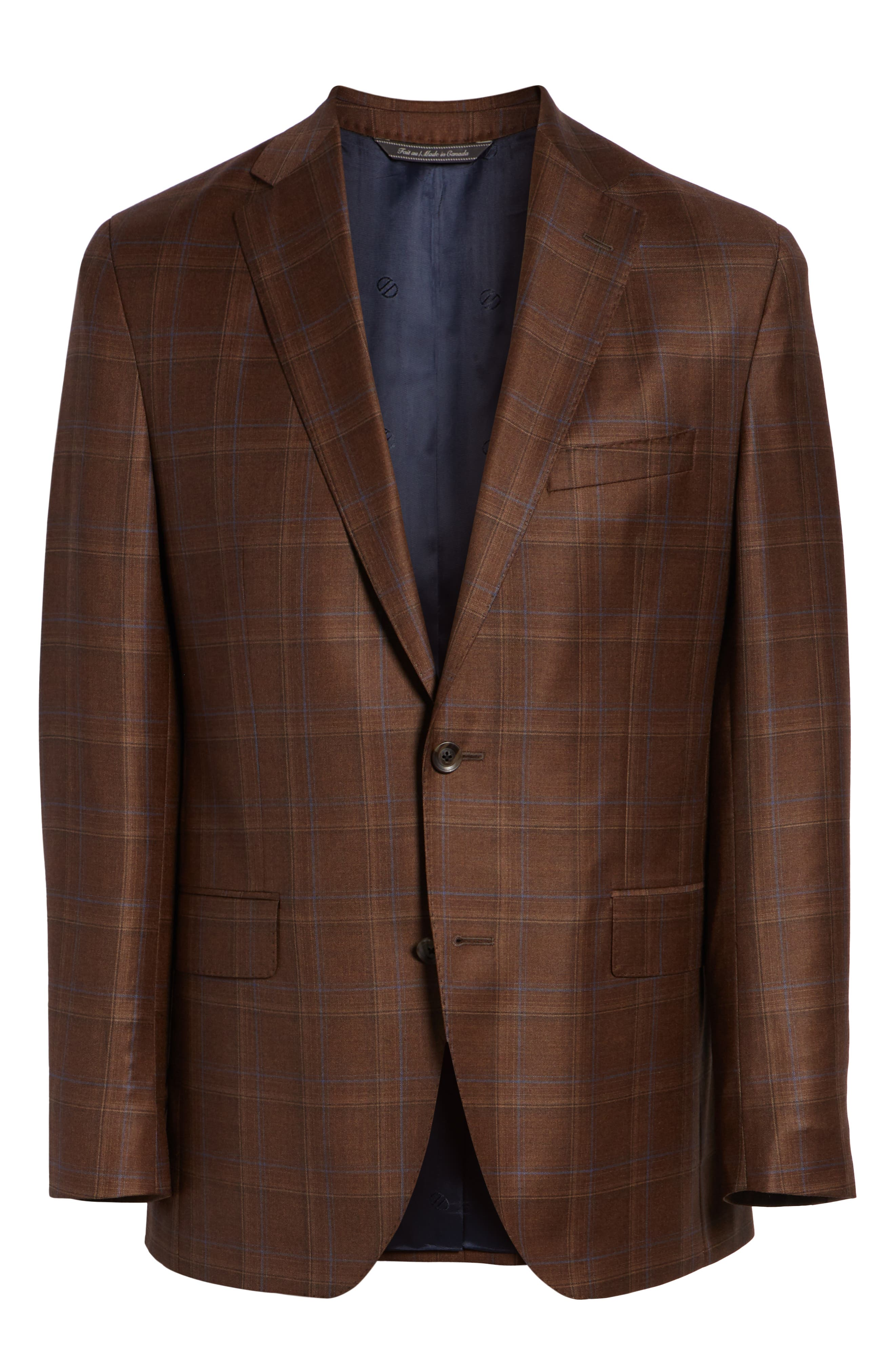 Arnold Classic Fit Plaid Wool Sport Coat,                             Alternate thumbnail 5, color,                             200