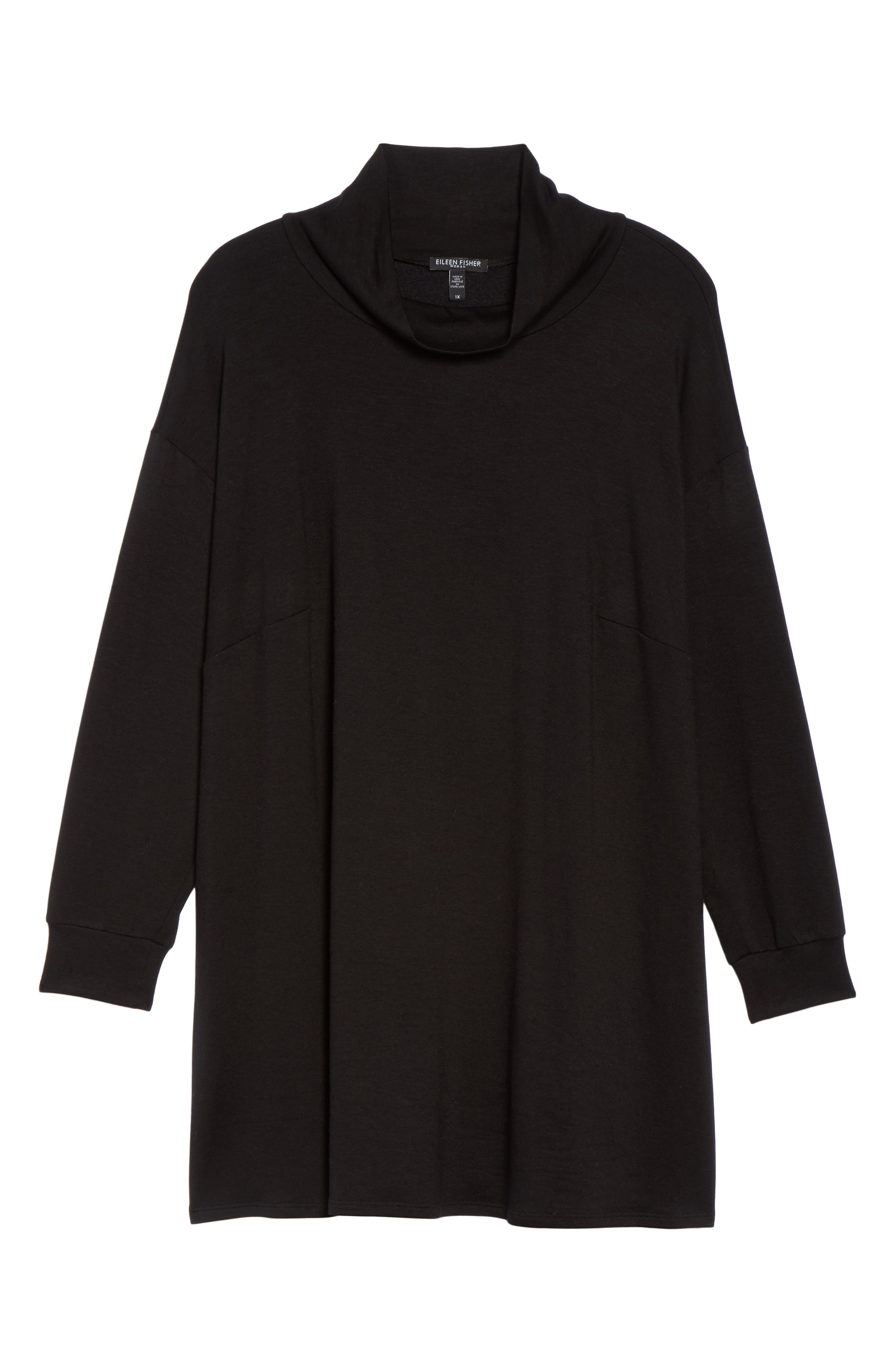 Funnel Neck Jersey Tunic,                             Alternate thumbnail 6, color,                             001