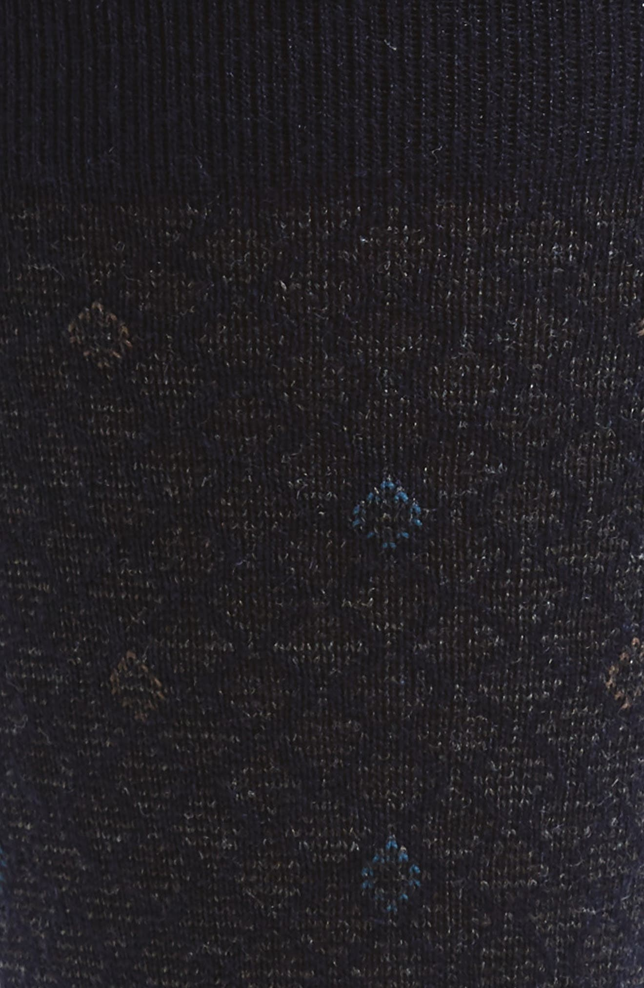 Diamond Wool Blend Socks,                             Alternate thumbnail 2, color,