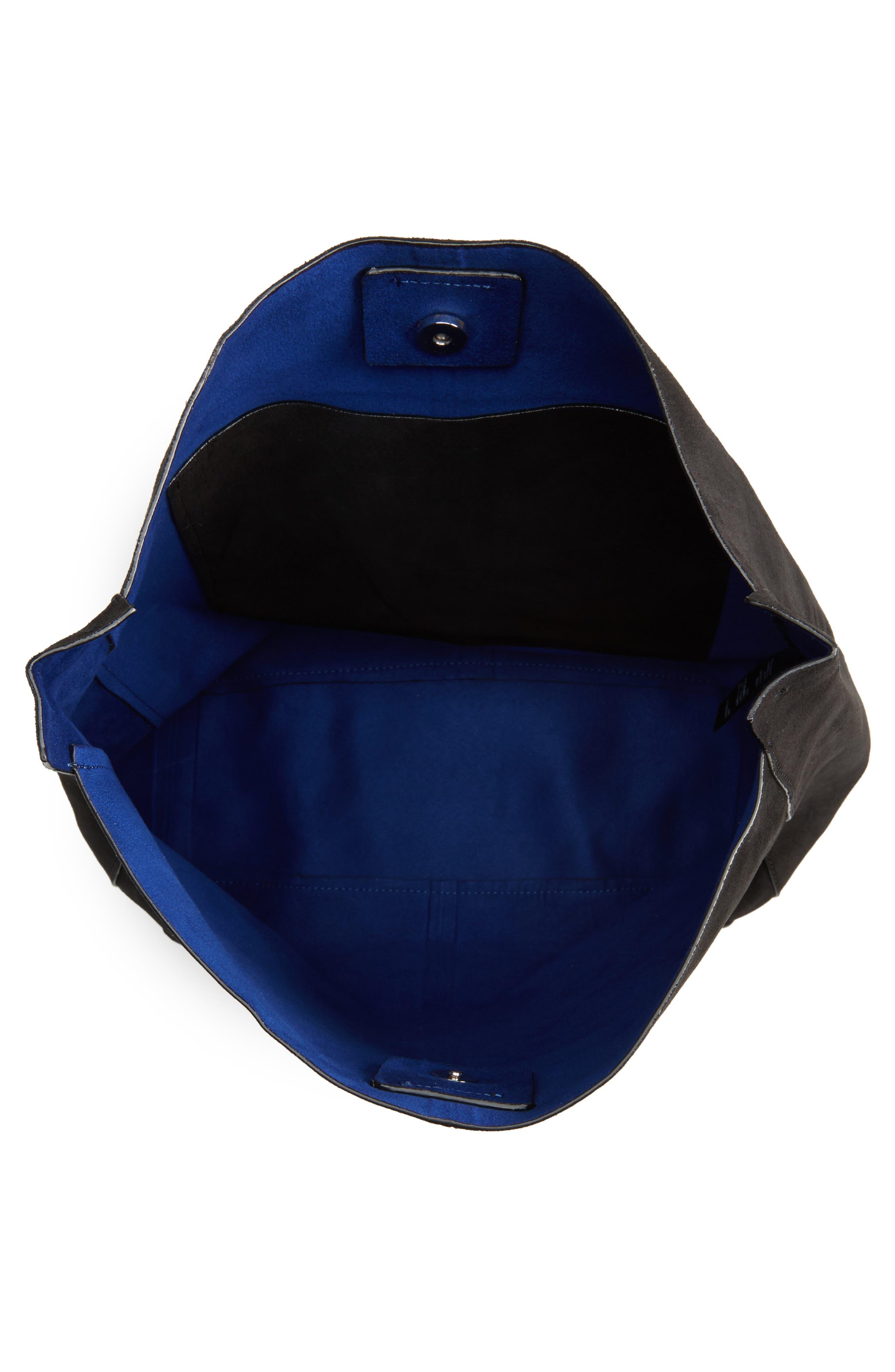 Asymmetric Suede Hobo Bag,                             Alternate thumbnail 7, color,