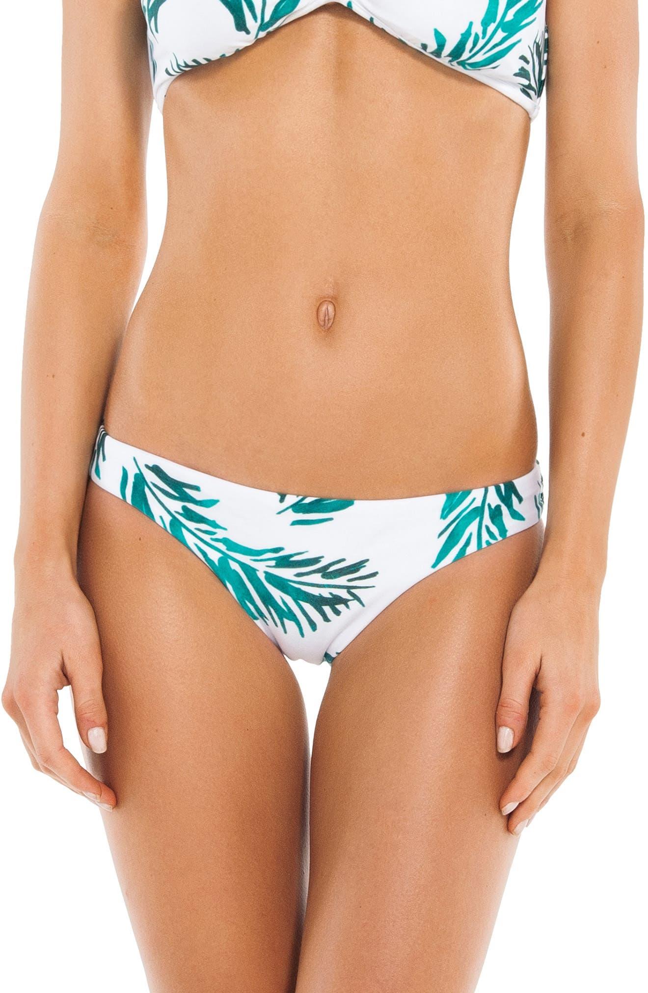 Tulum Print Bikini Bottoms,                         Main,                         color, 100