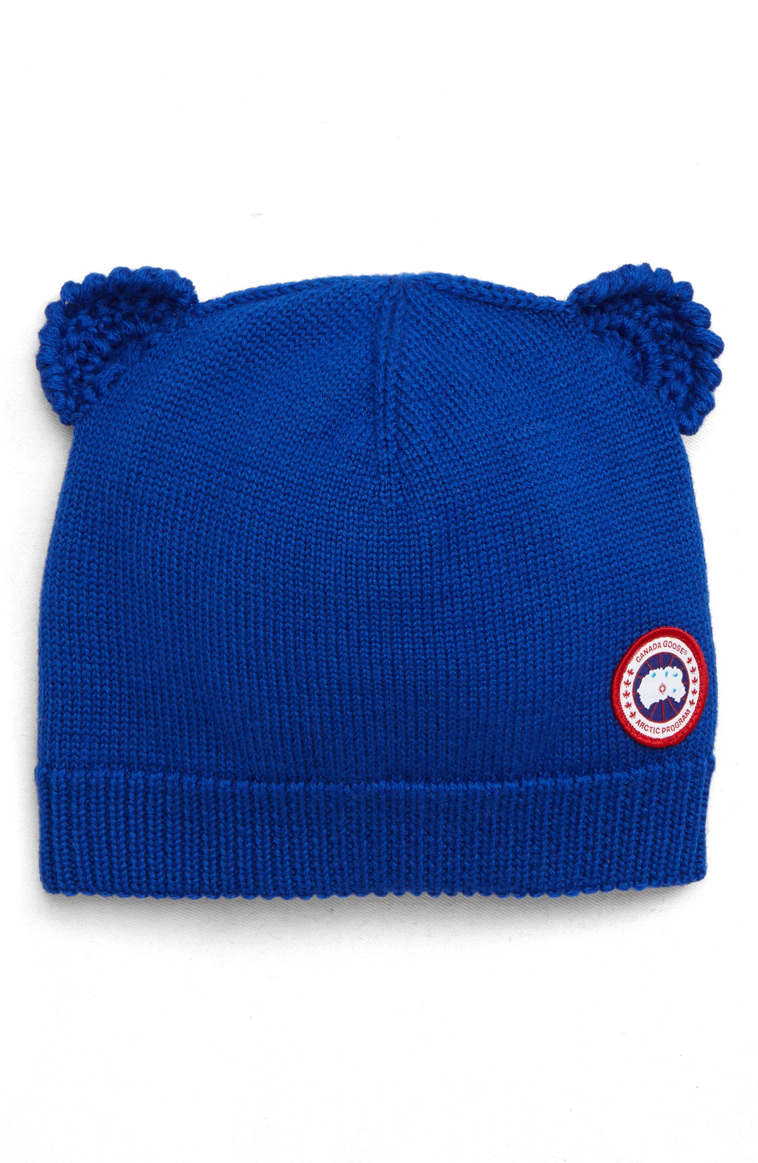 Toddler Canada Goose Cub Wool Hat - Blue