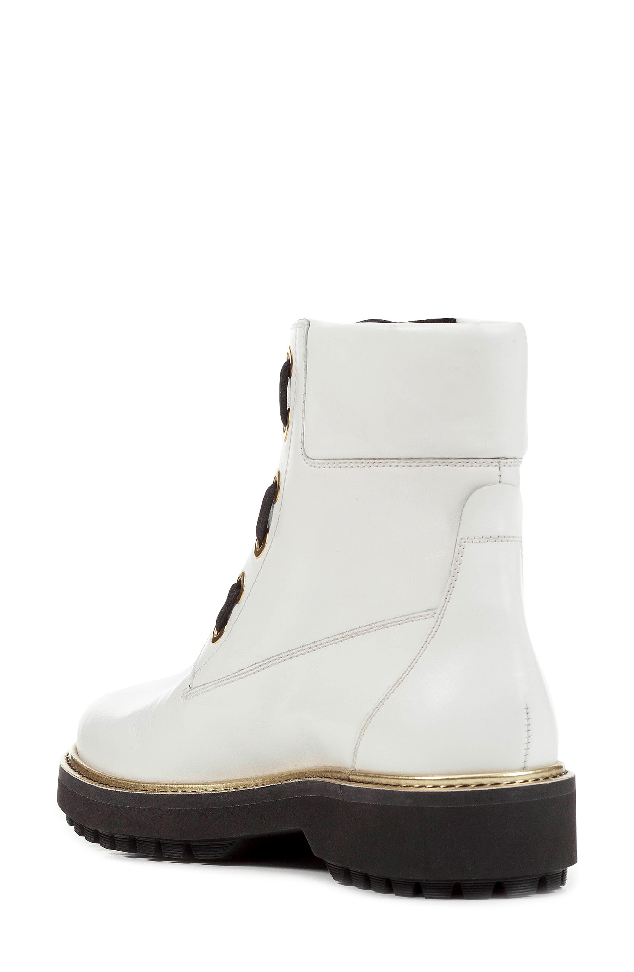GEOX,                             Asheely Bootie,                             Alternate thumbnail 2, color,                             WHITE LEATHER