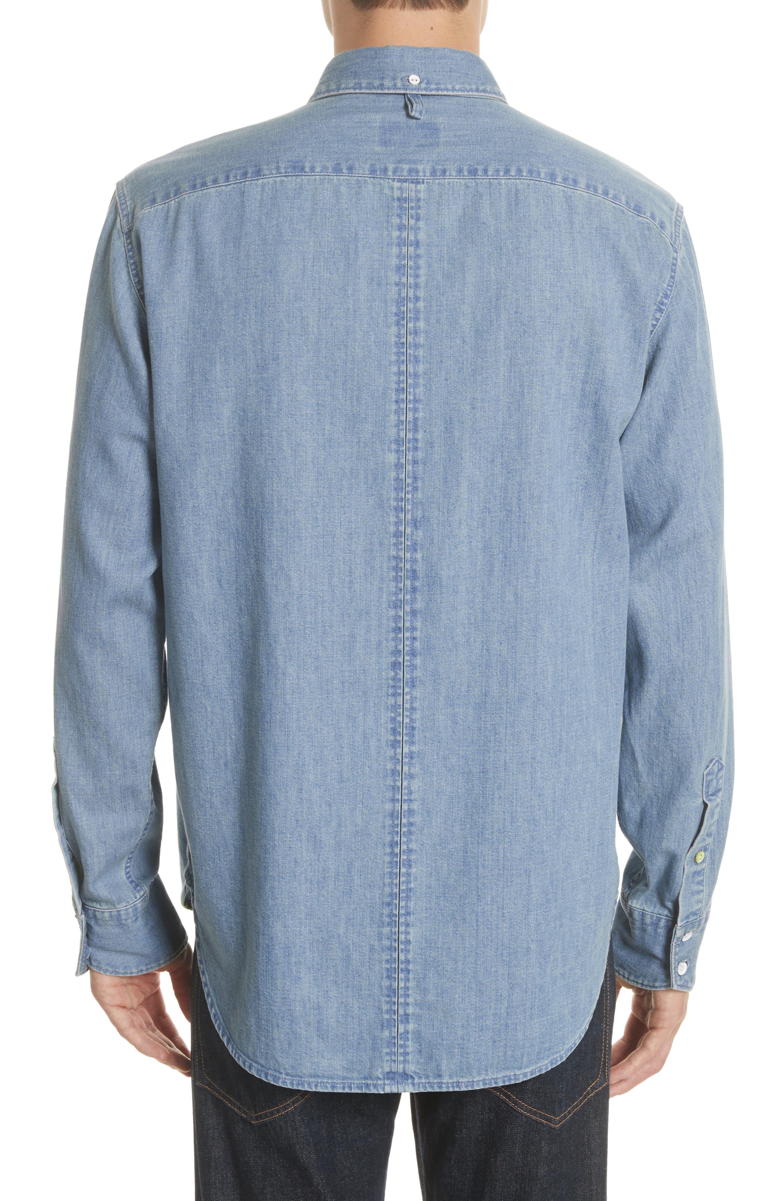 Fit 3 Chambray Denim Shirt,                             Alternate thumbnail 2, color,