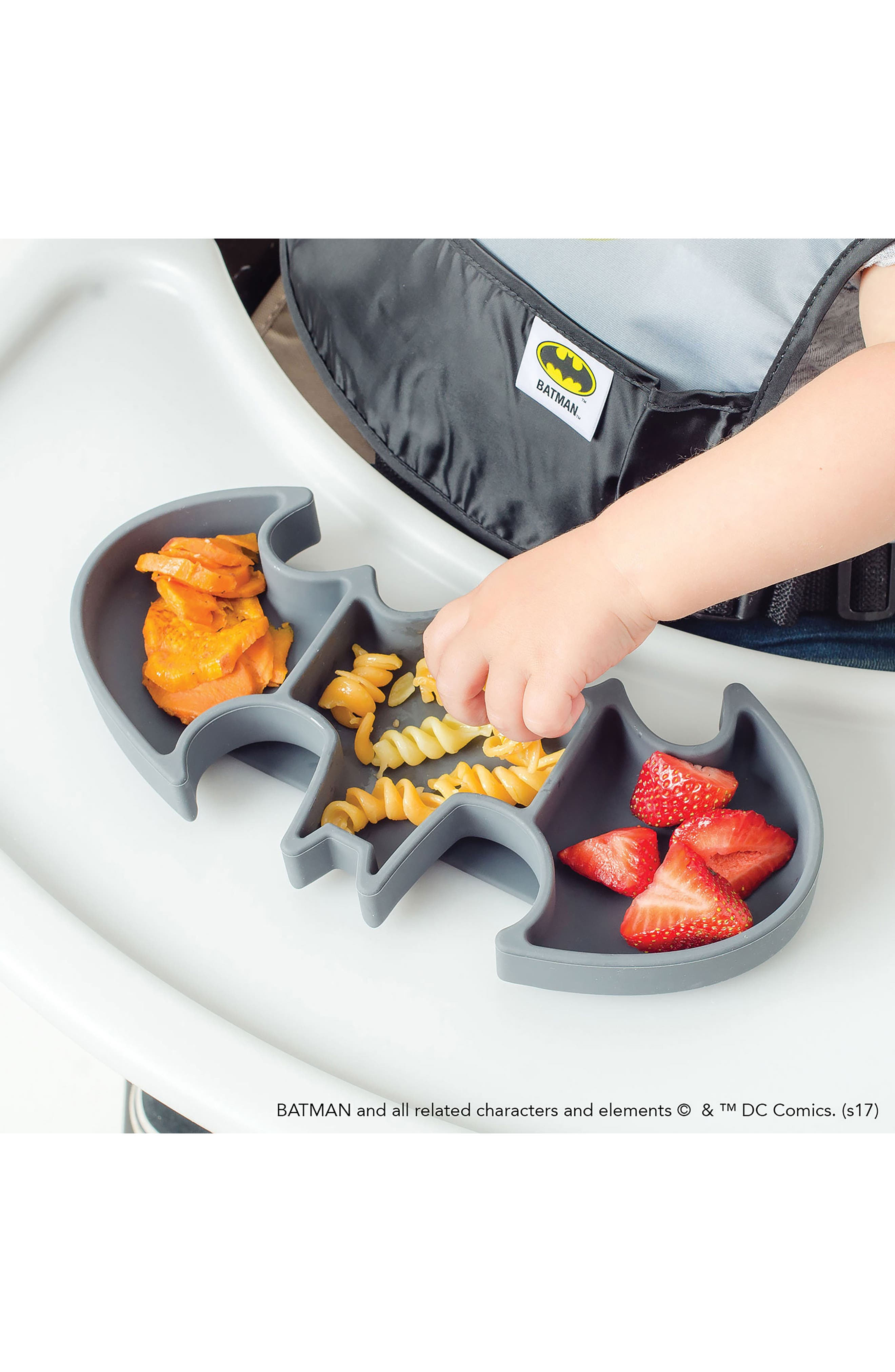 Batman Grip Dish & Caped SuperBib Set,                             Alternate thumbnail 7, color,                             001