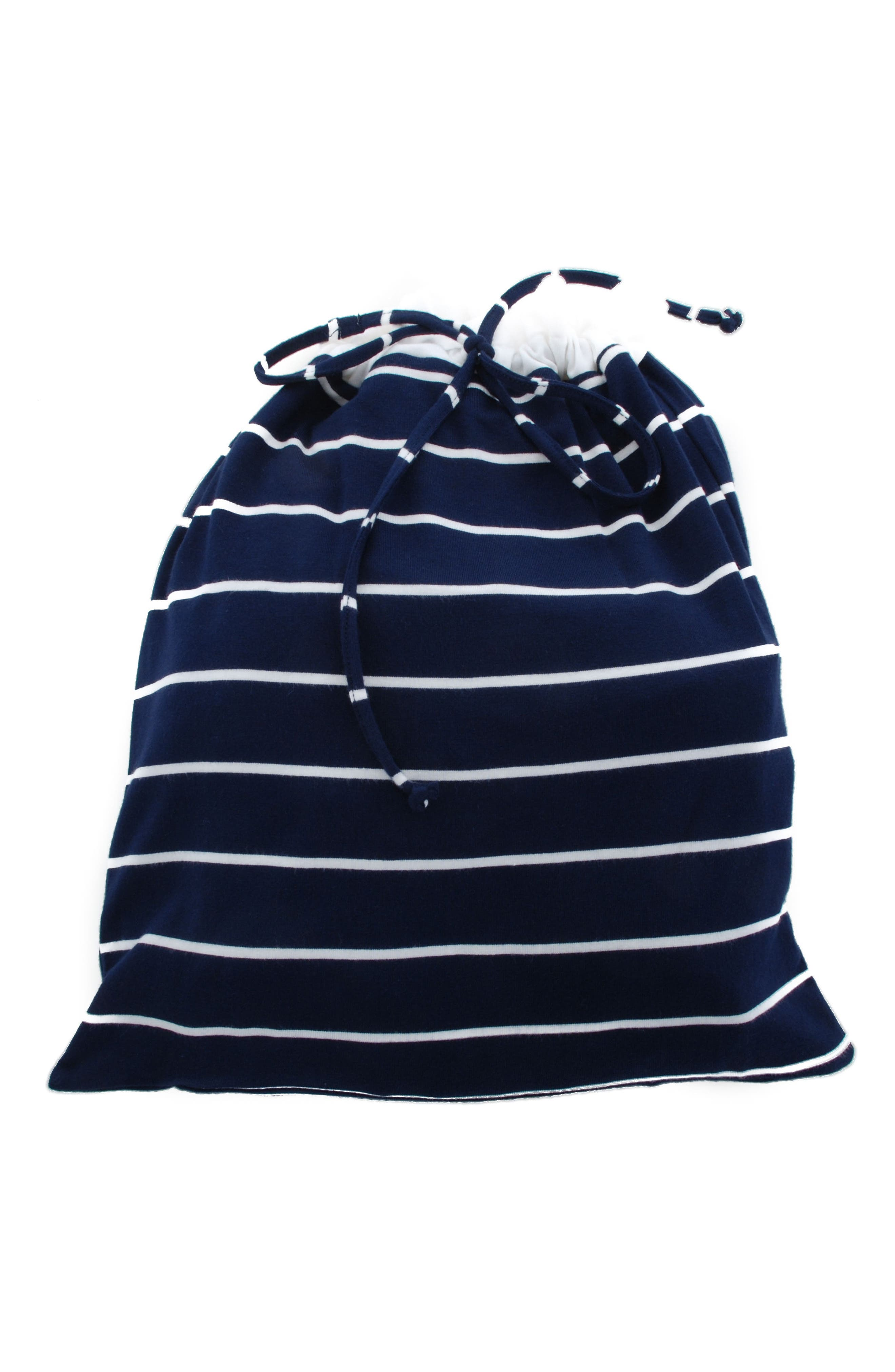 EVERLY GREY,                             Adalia 5-Piece Maternity/Nursing Pajama Set,                             Alternate thumbnail 6, color,                             NAVY STRIPE