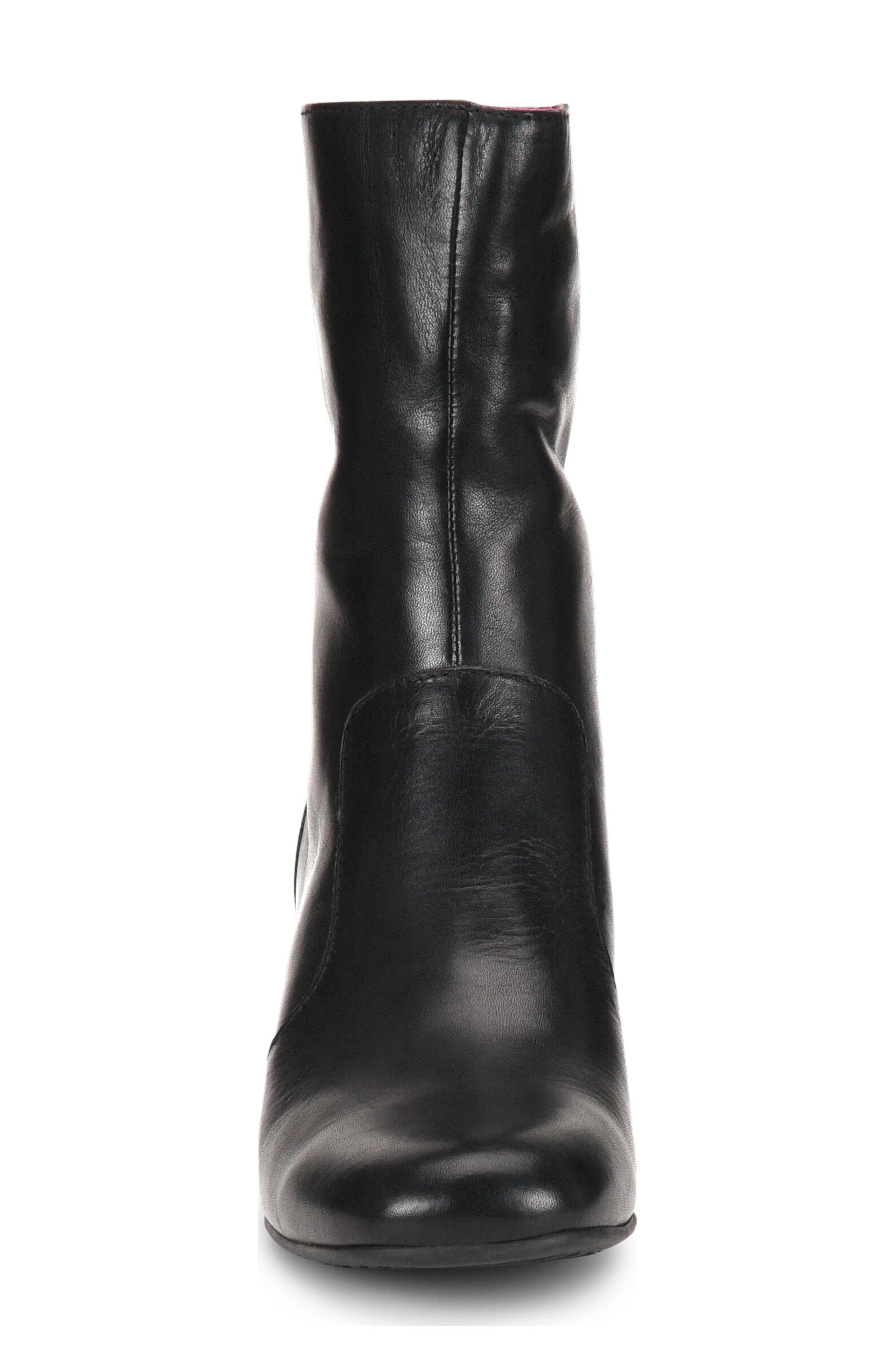 Florence Bootie,                             Alternate thumbnail 4, color,                             BLACK LEATHER