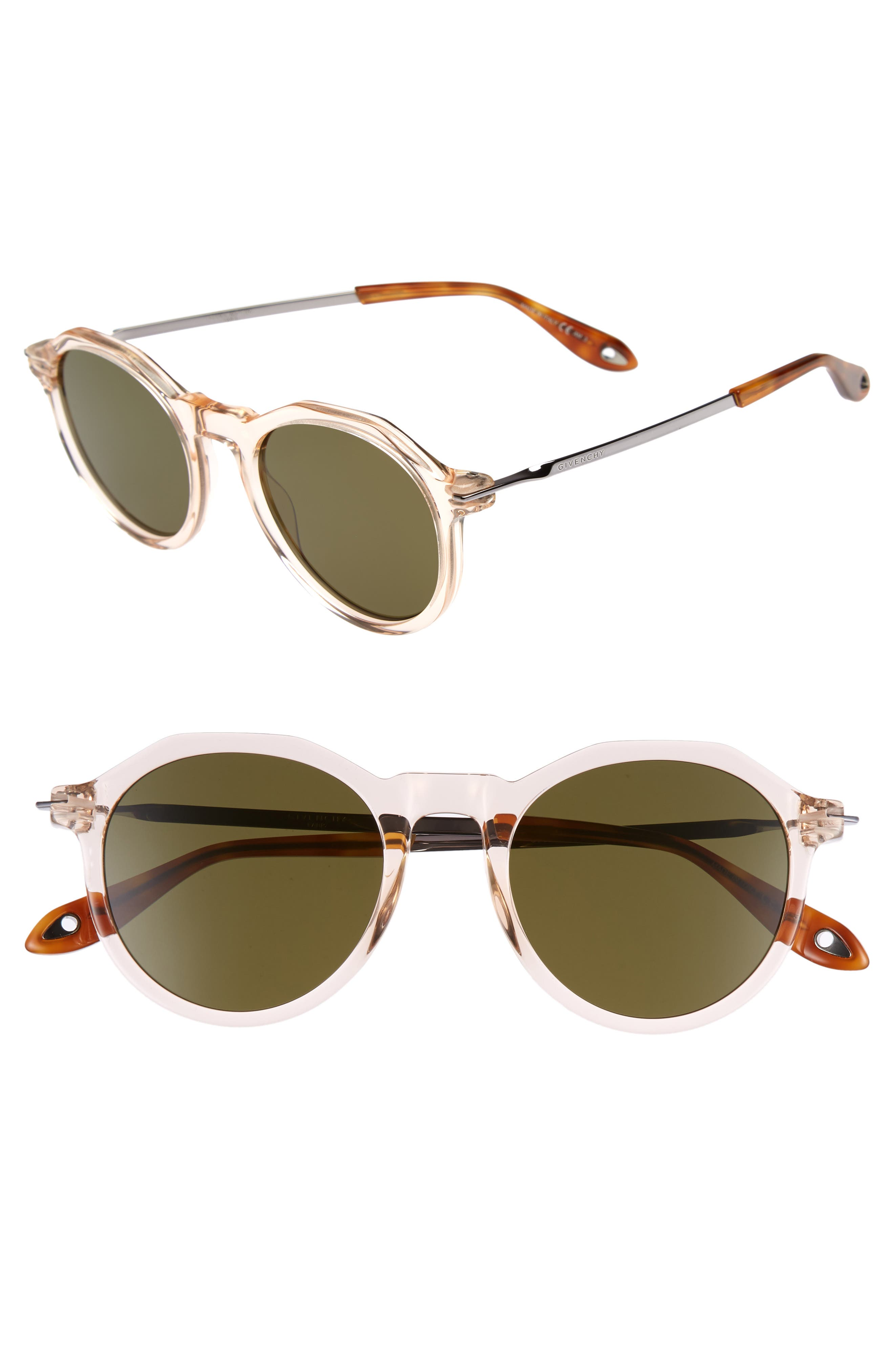 51mm Round Sunglasses,                             Main thumbnail 3, color,